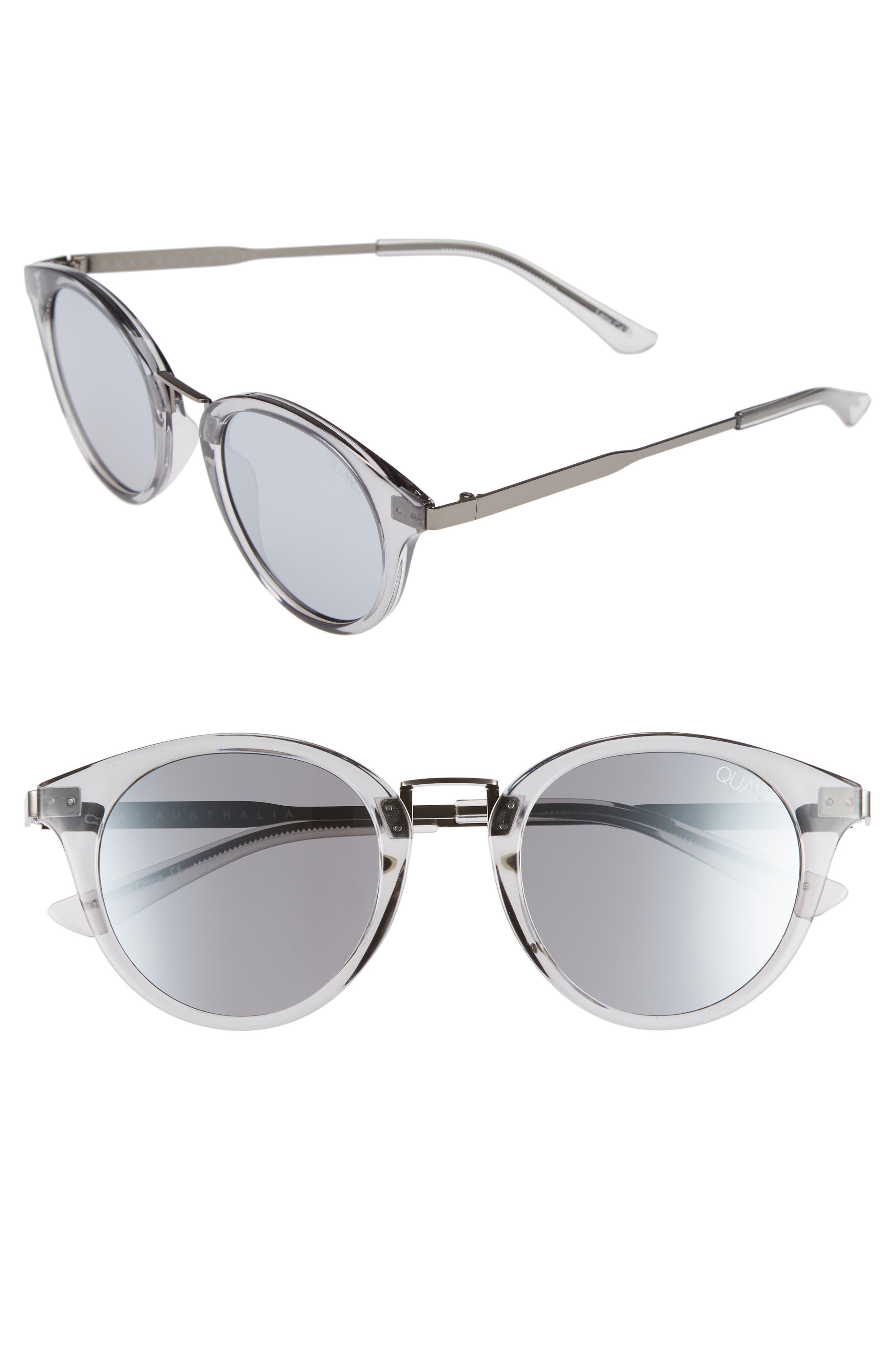 Gotta Run 48mm Sunglasses,                             Main thumbnail 1, color,                             Grey/ Silver