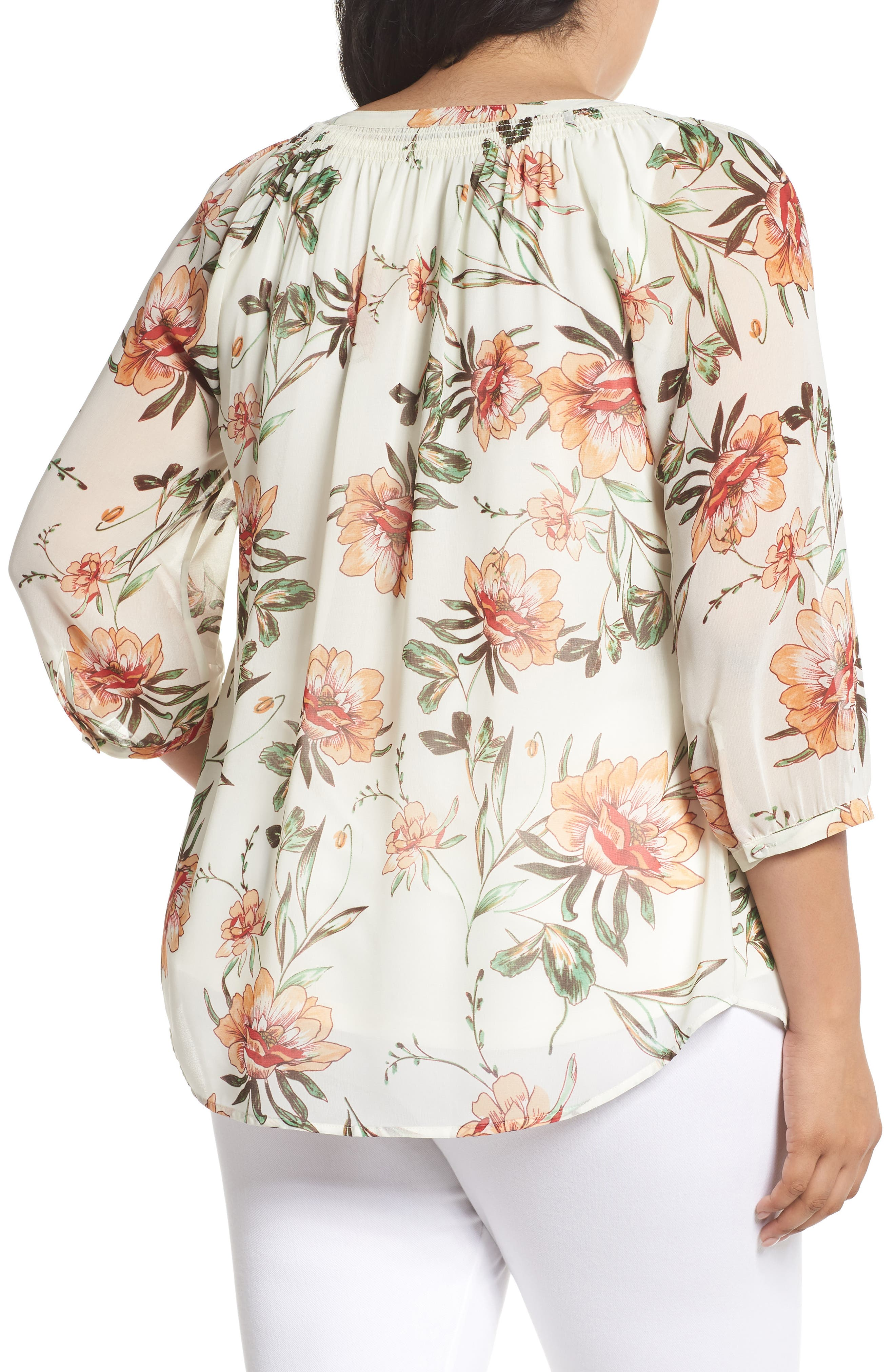 Paisley Blouse,                             Alternate thumbnail 2, color,                             D380n Ivory
