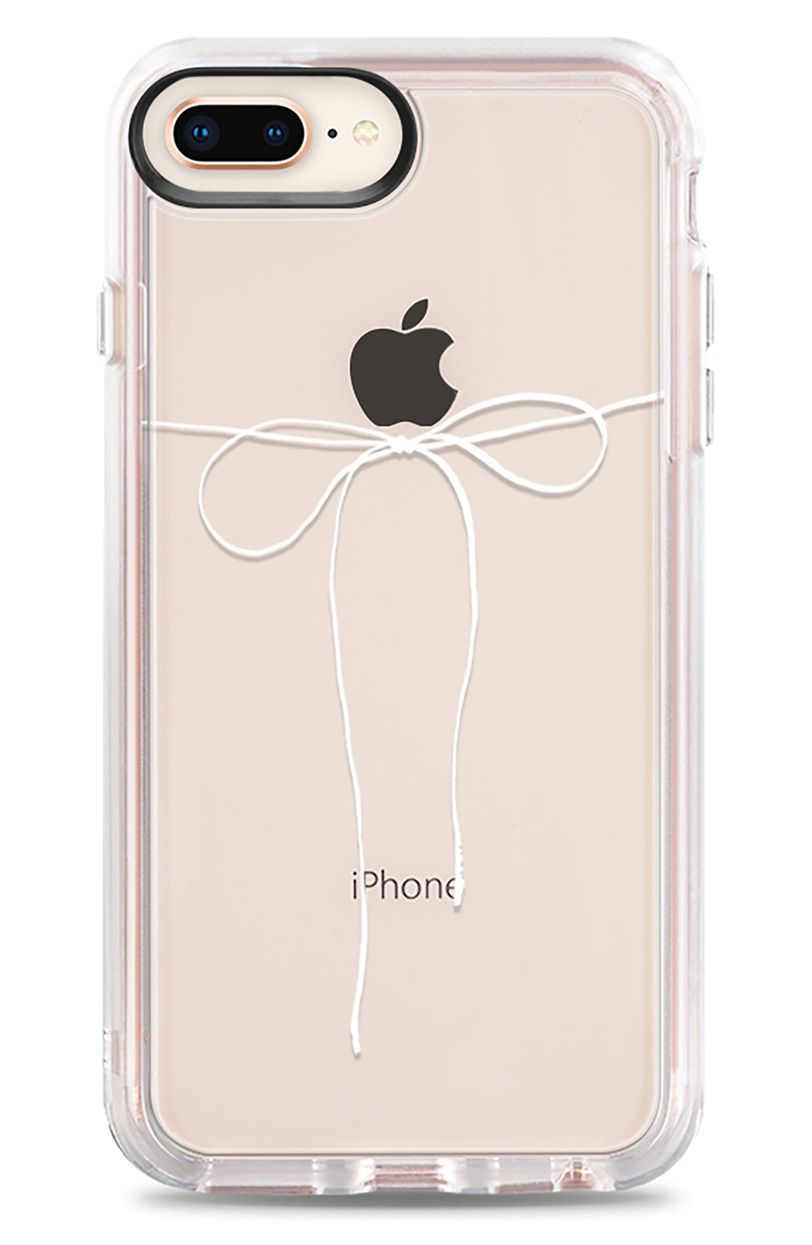 Take a Bow iPhone 7/8 & 7/8 Plus Case,                         Main,                         color, Clear White