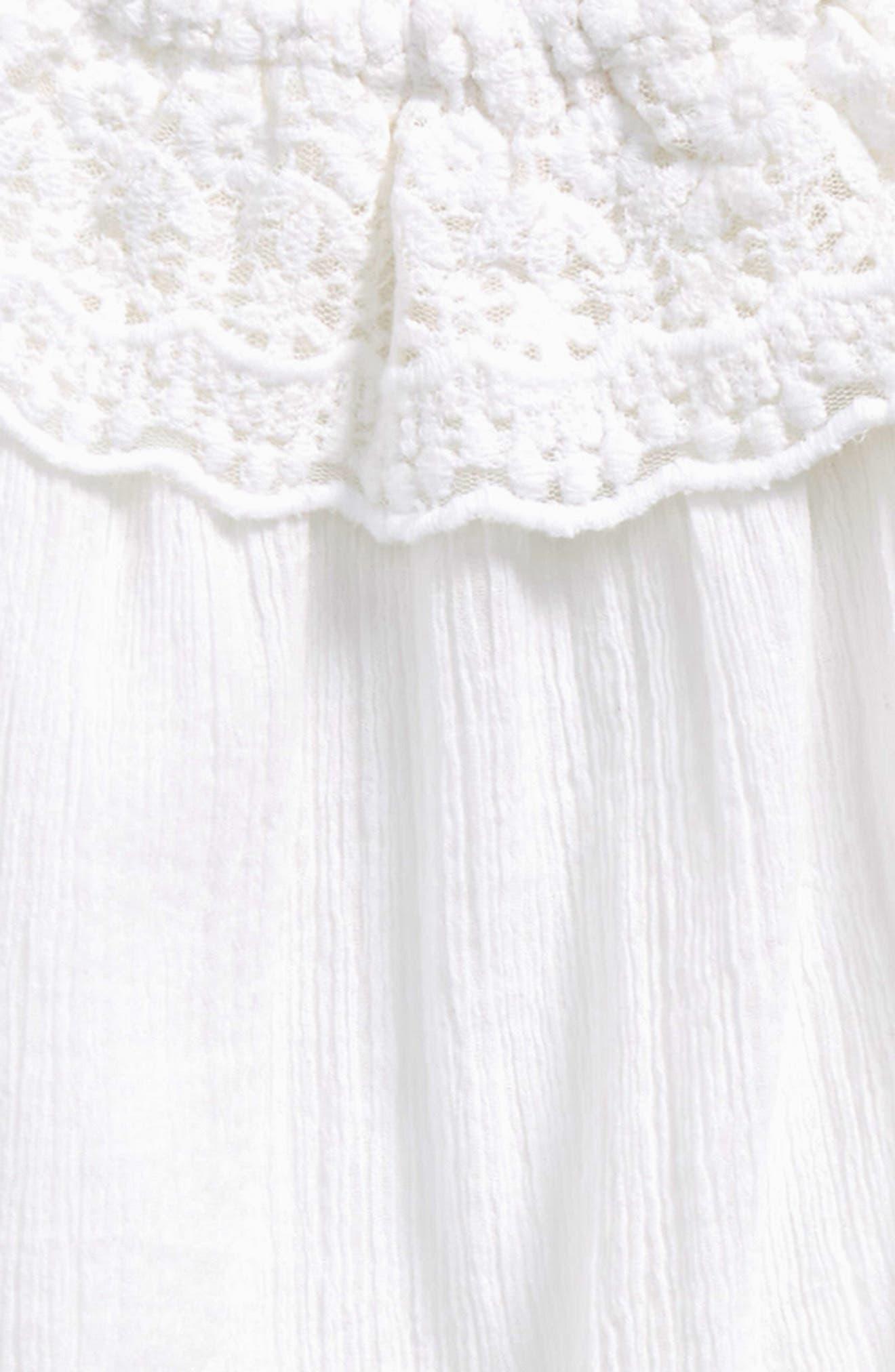 Ruffle Dress,                             Alternate thumbnail 2, color,                             White