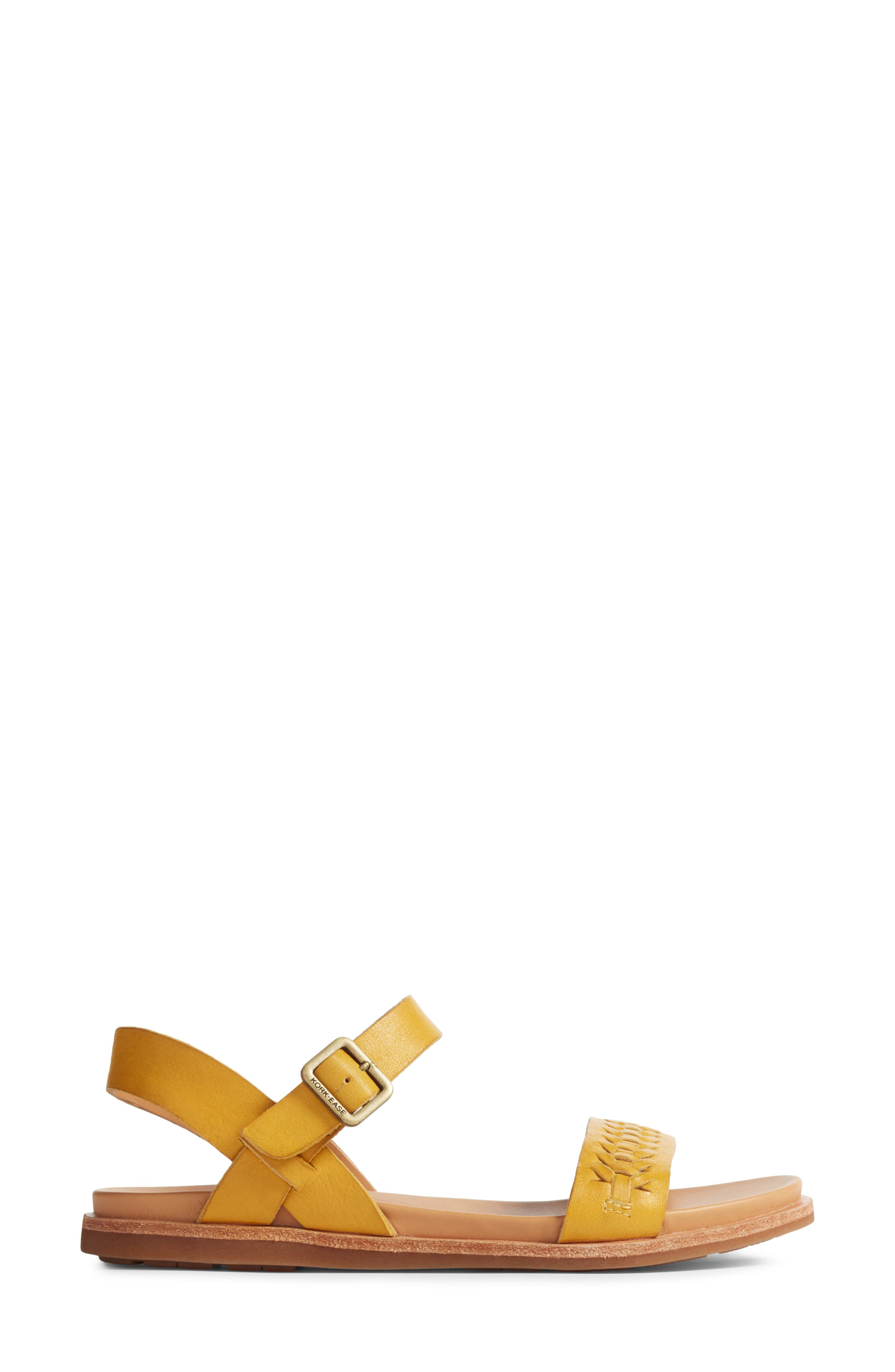 Yucca Braid Sandal,                             Alternate thumbnail 3, color,                             Yellow Leather