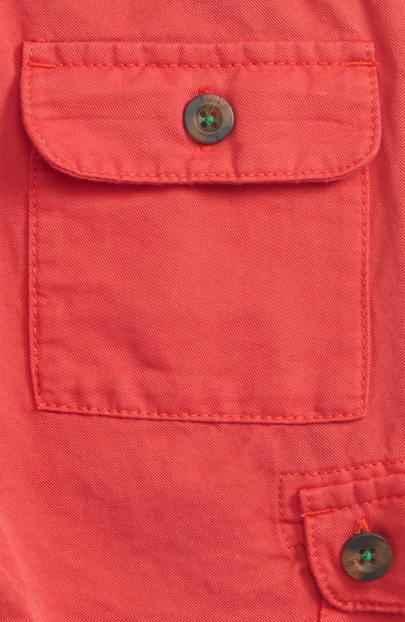 Summer Cargo Shorts,                             Alternate thumbnail 3, color,                             Jam Red