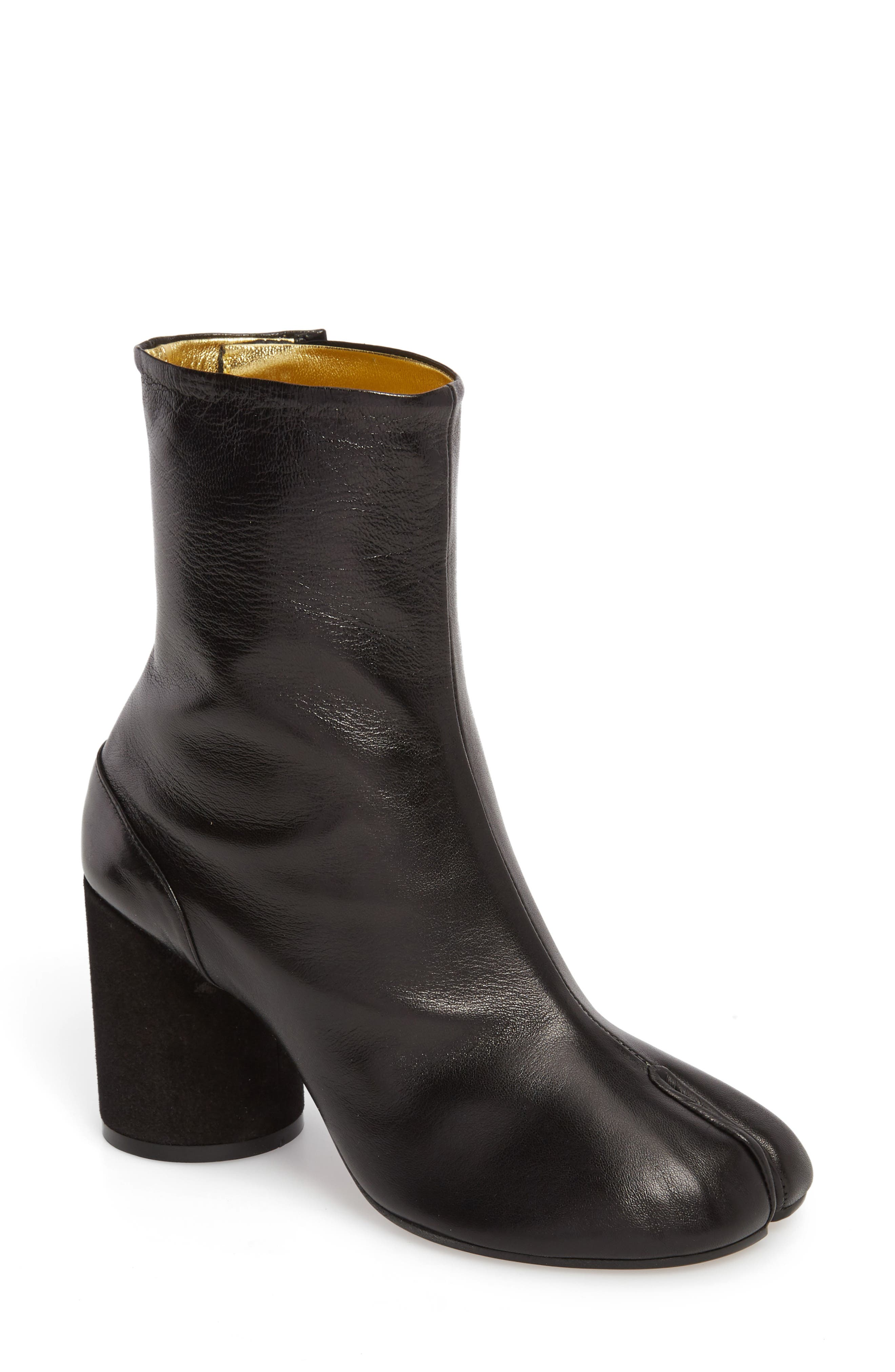 Tabi Boot,                         Main,                         color, Black/ Gold
