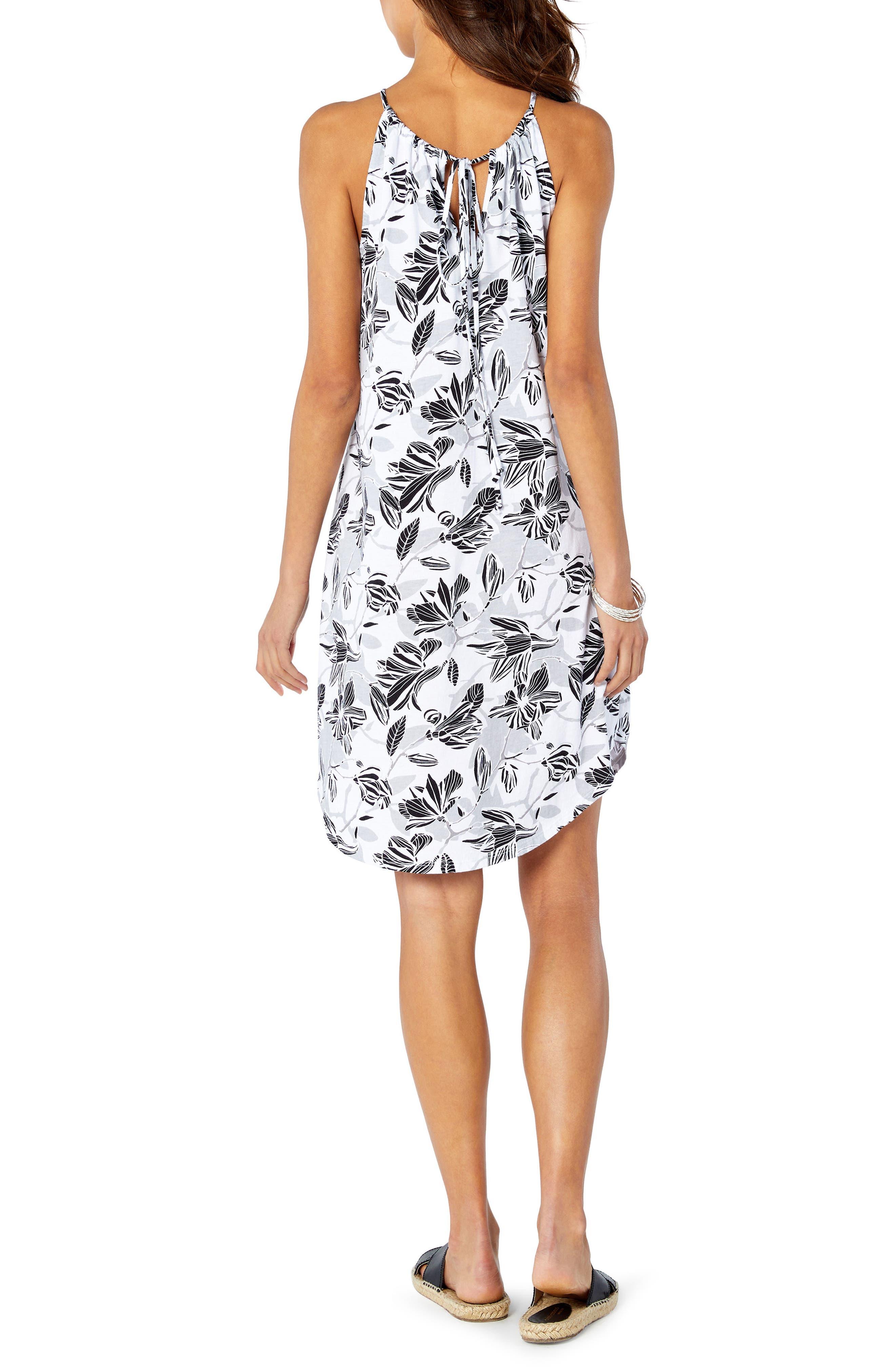 Floral Sun Dress,                             Alternate thumbnail 2, color,                             White