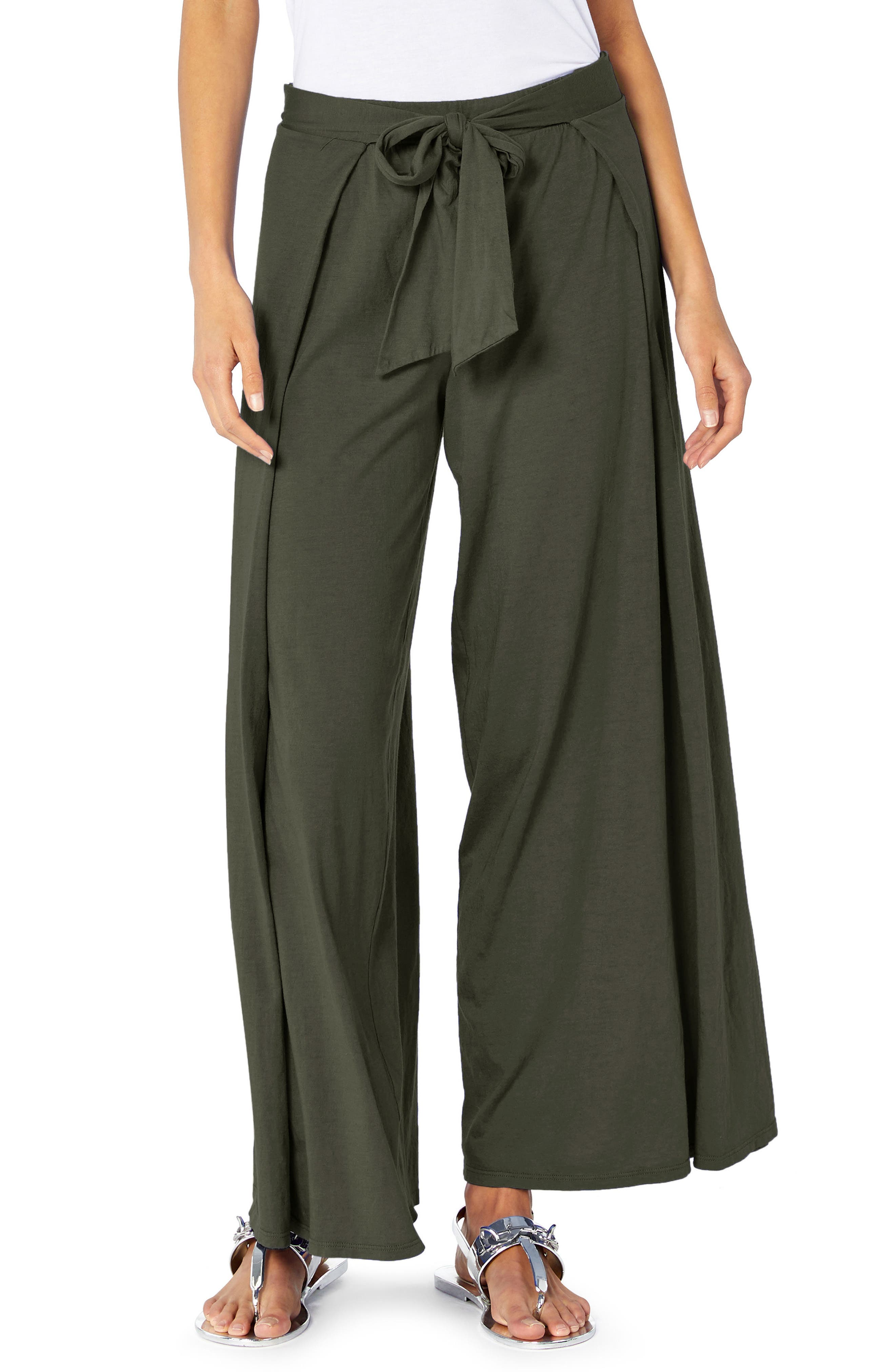 Wide Leg Pants,                         Main,                         color, Camo