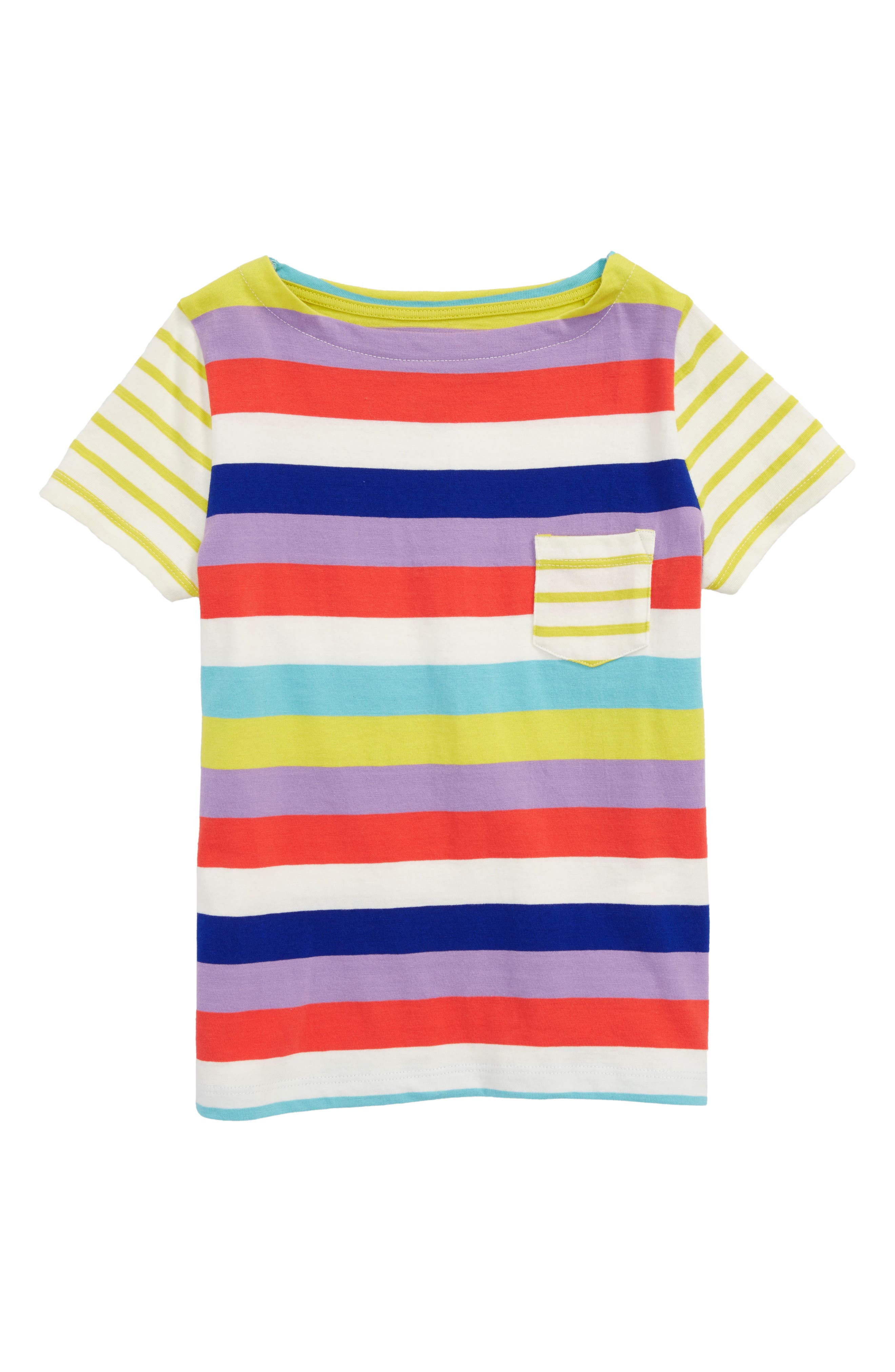 Summer Hotchpotch Tee,                             Main thumbnail 1, color,                             Candy Stripe Str