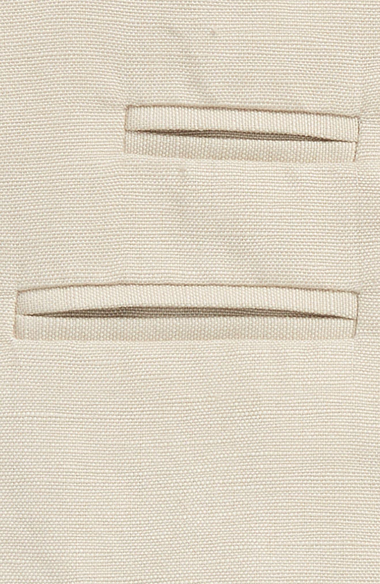 Miles Linen Vest,                             Alternate thumbnail 2, color,                             Sandshell