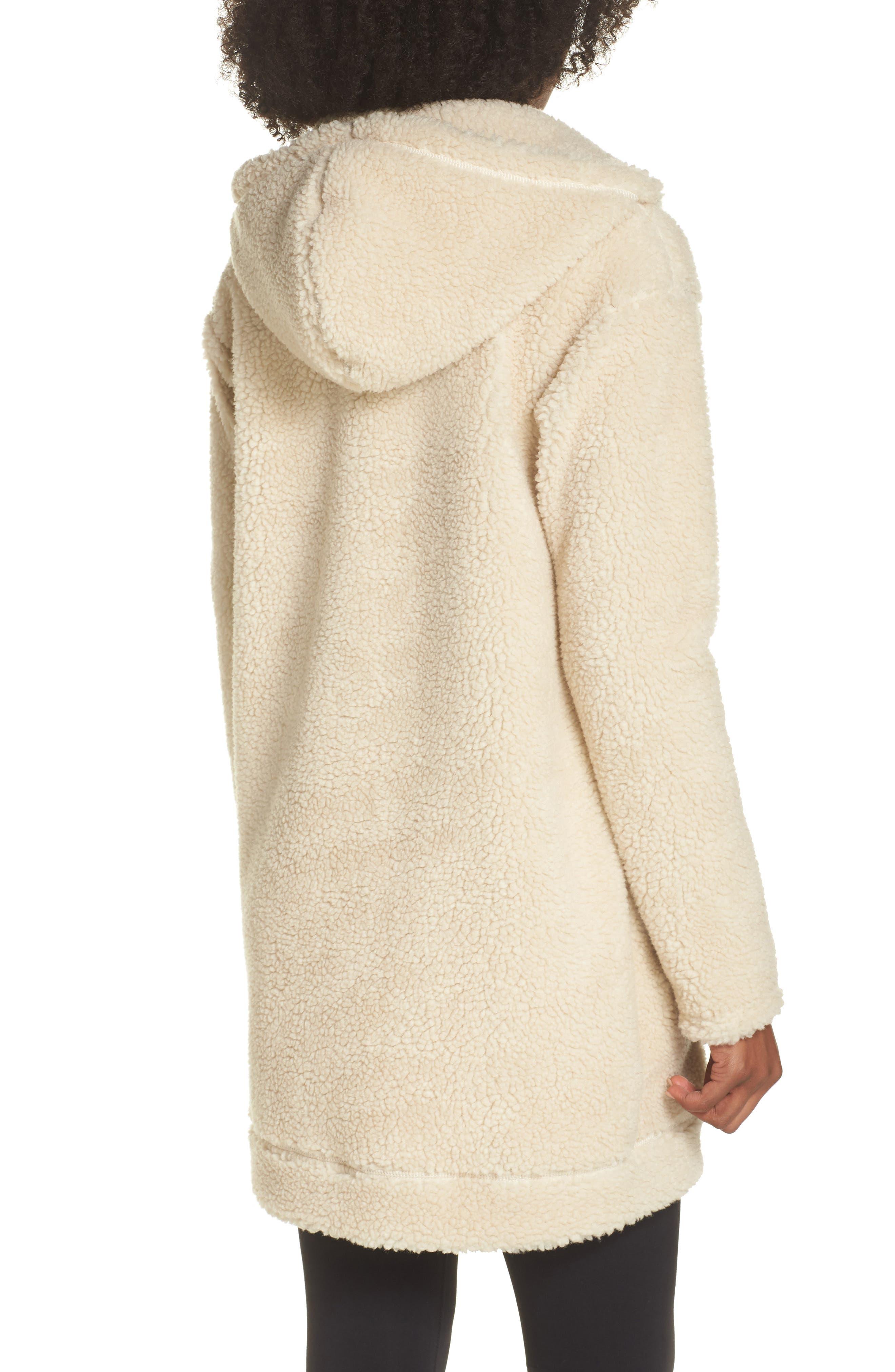 Brea Fleece Jacket,                             Alternate thumbnail 2, color,                             Natural