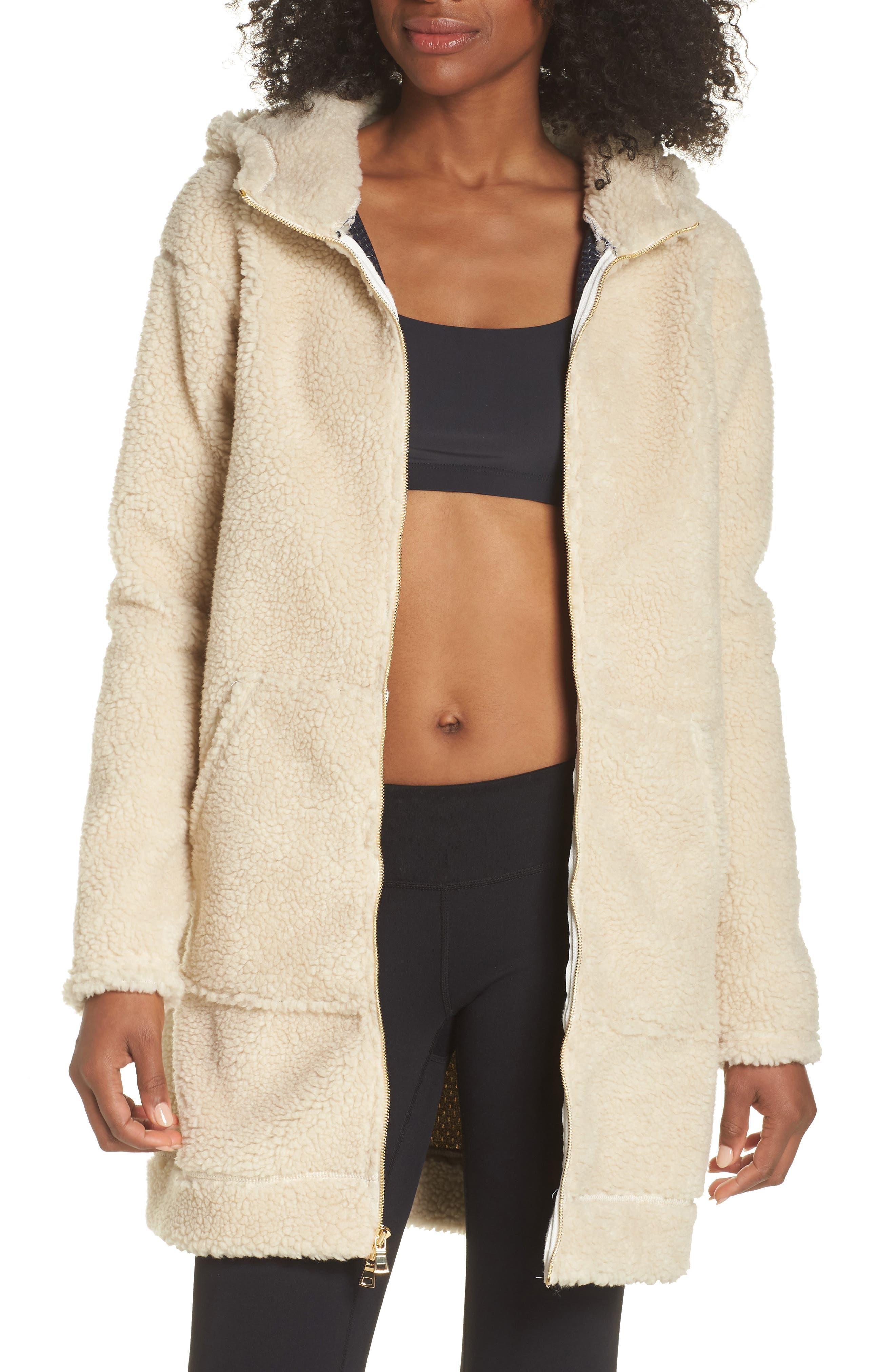Brea Fleece Jacket,                             Main thumbnail 1, color,                             Natural