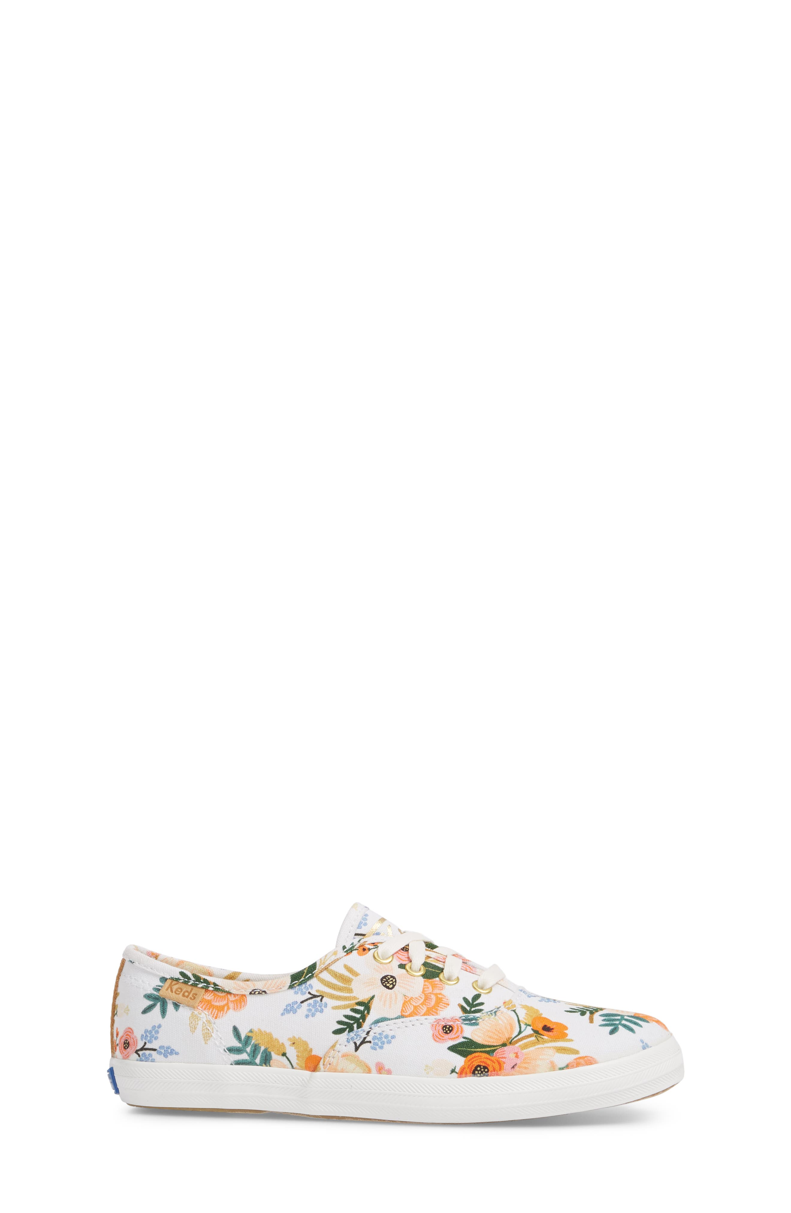 x Rifle Paper Co. Floral Print Champion Sneaker,                             Alternate thumbnail 3, color,                             Lively White