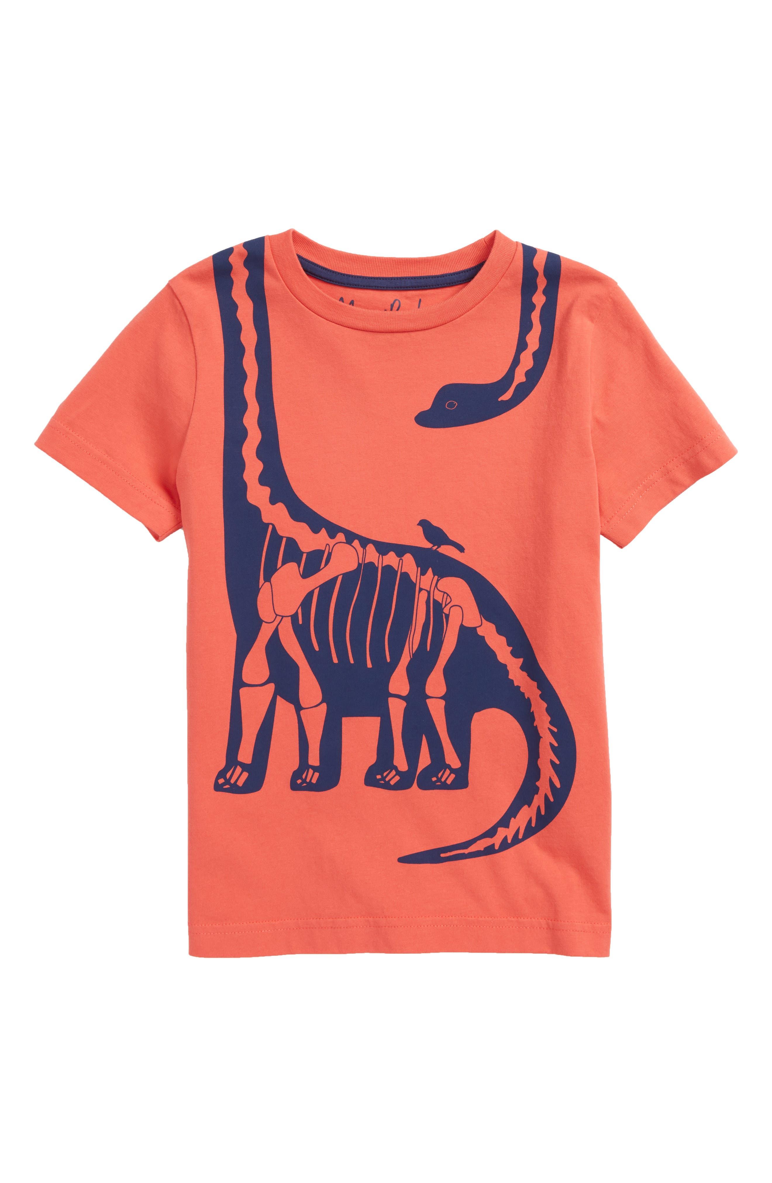 Wraparound Dinosaur Graphic T-Shirt,                             Main thumbnail 1, color,                             Jam Red Diploduocus