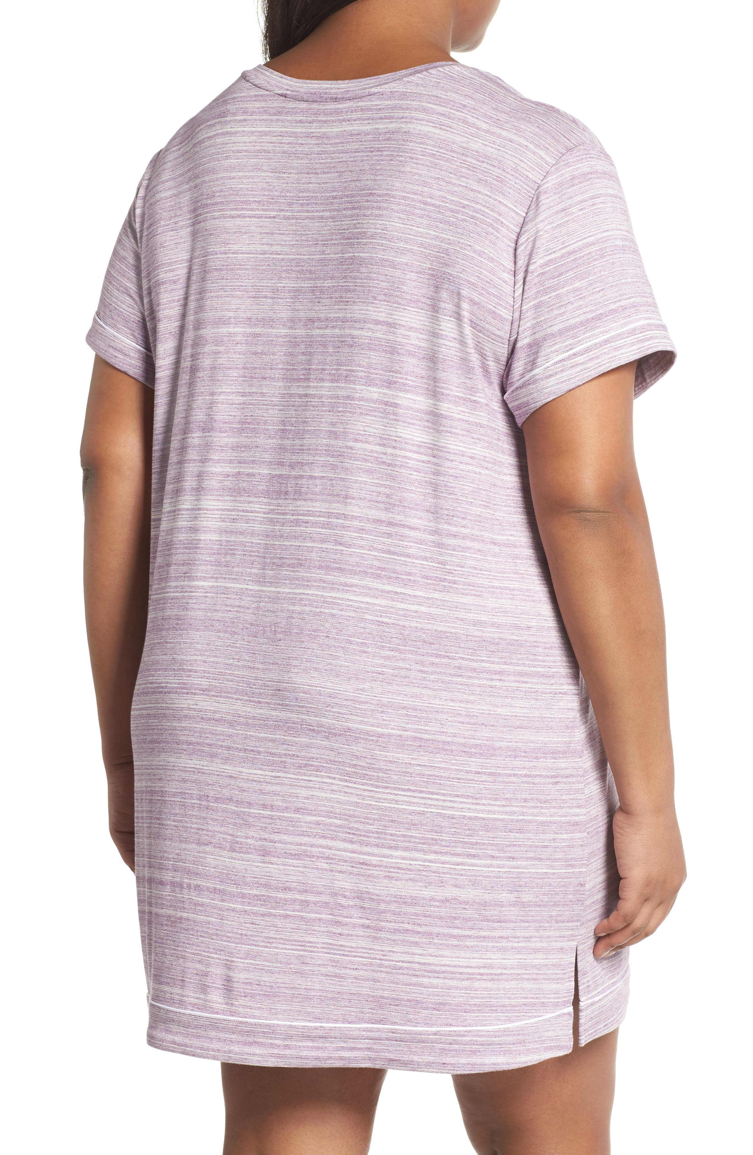 Moonlight V-Neck Nightshirt,                             Alternate thumbnail 2, color,                             Purple Spacedye