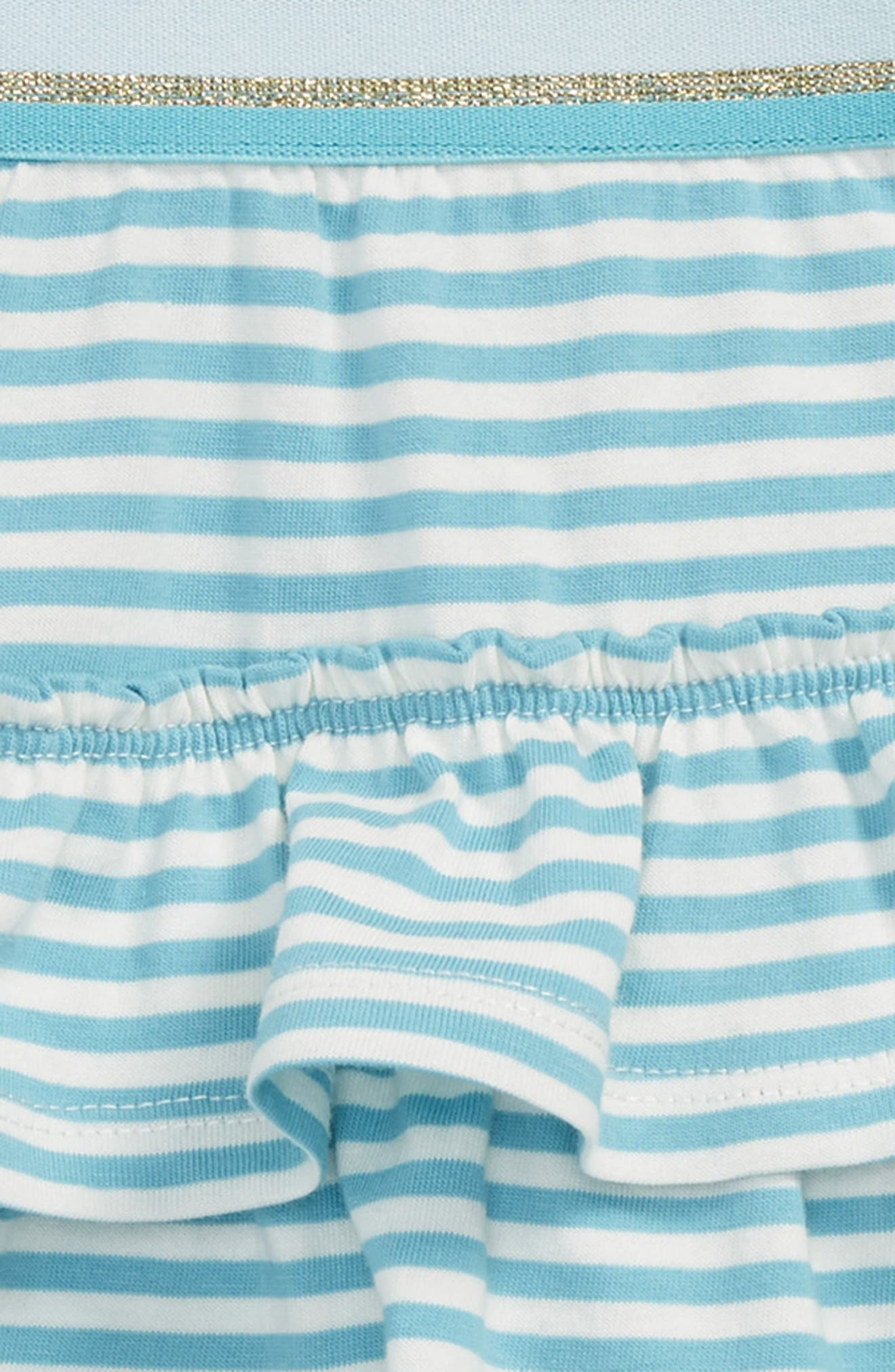 Ruffle Skort,                             Alternate thumbnail 2, color,                             Camper Blue/ Ivory Blu