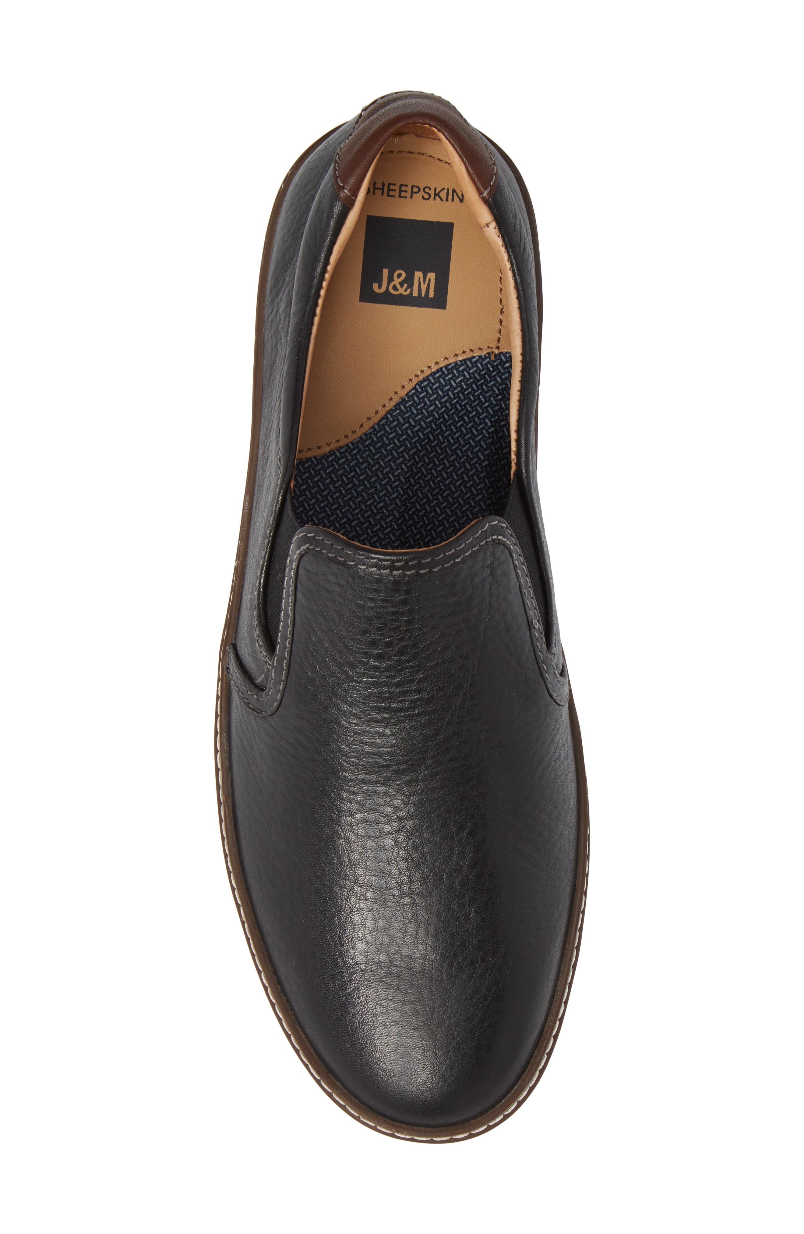 McGuffey Slip-On Sneaker,                             Alternate thumbnail 5, color,                             Black Leather