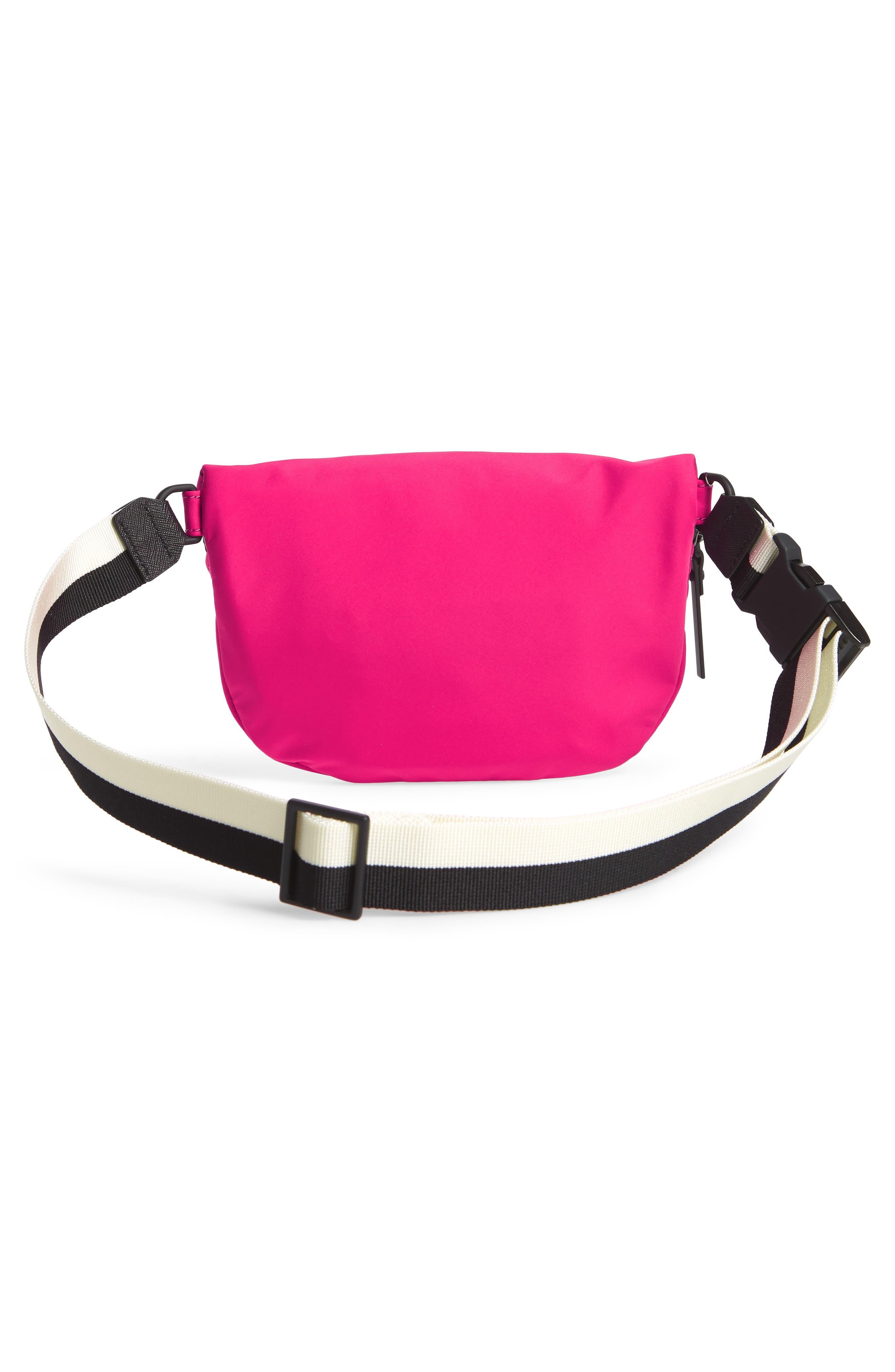 that's the spirit mini nylon fanny pack,                             Alternate thumbnail 4, color,                             Kinetic Pink