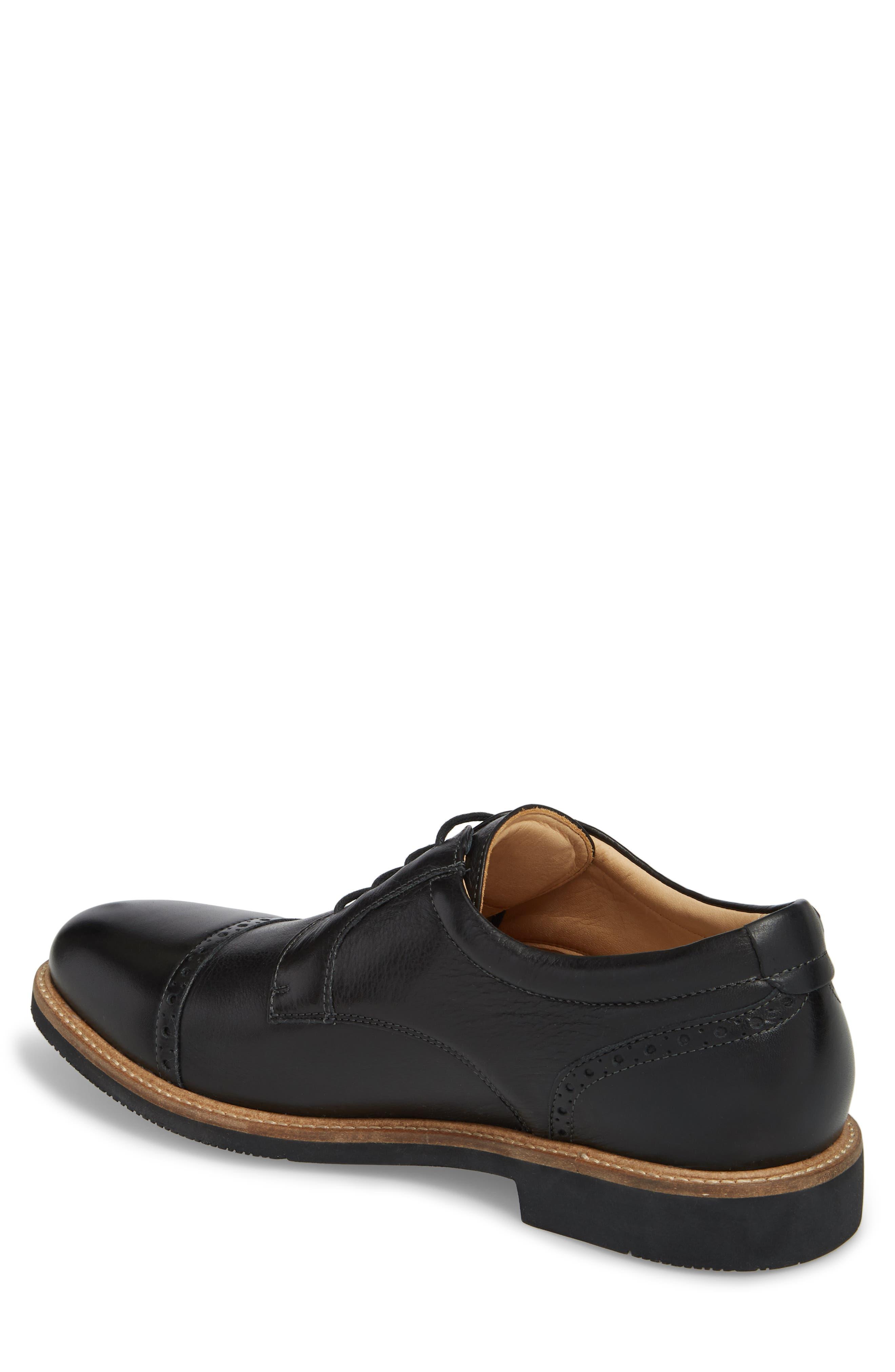Barlow Cap Toe Derby,                             Alternate thumbnail 2, color,                             Black Leather