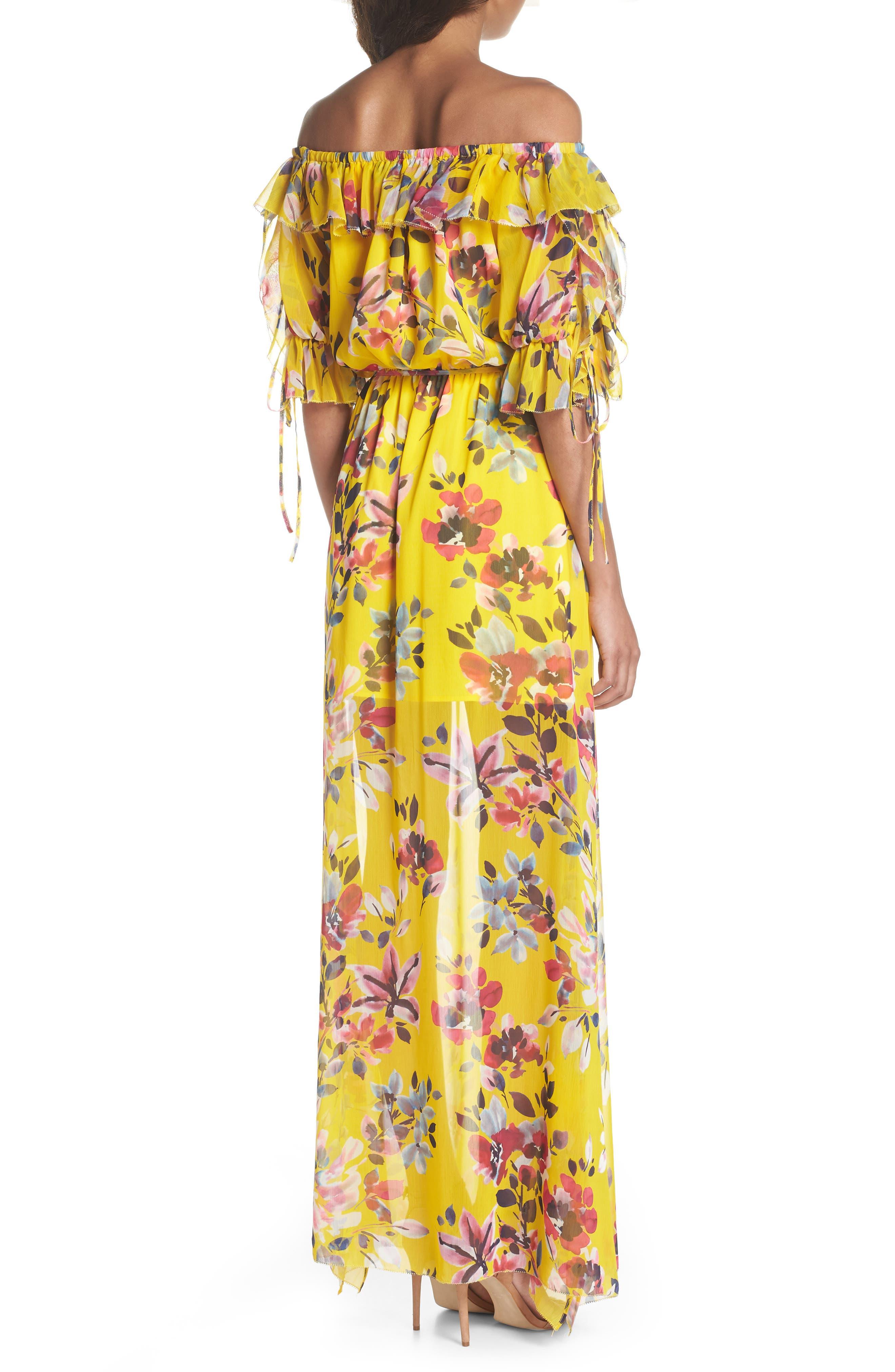 Linosa Crinkle Maxi Dress,                             Alternate thumbnail 2, color,                             Citrus