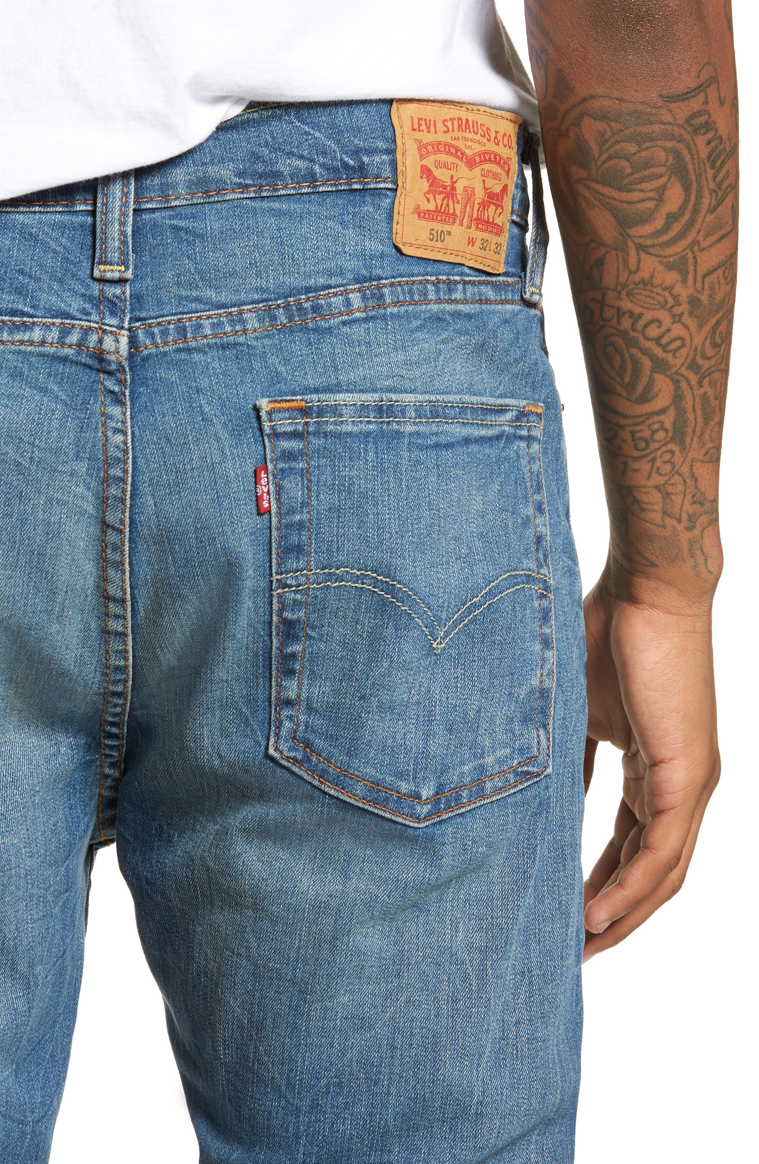 510<sup>™</sup> Skinny Fit Jeans,                             Alternate thumbnail 4, color,                             Lake Anza