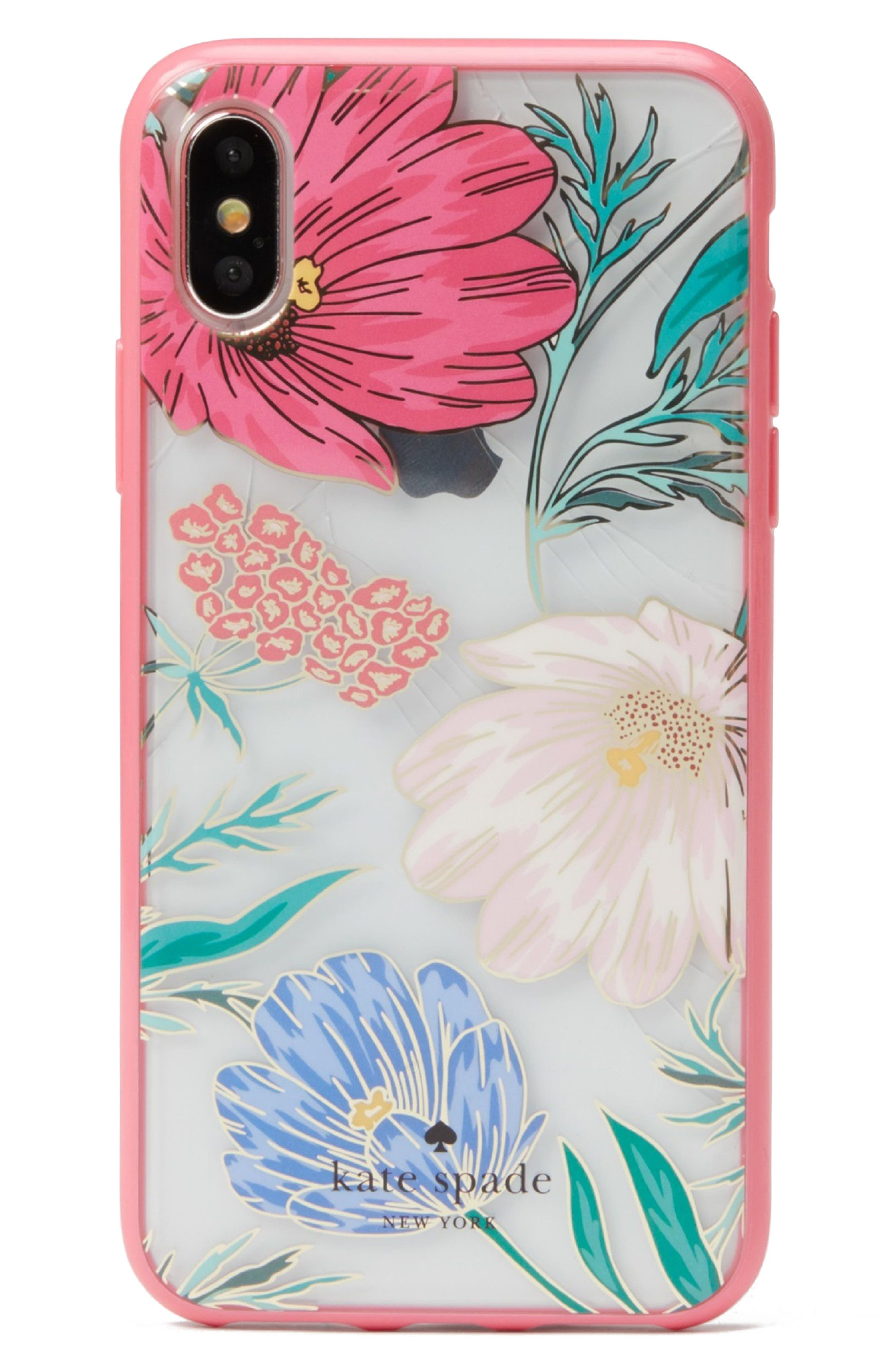 blossom iPhone X case,                         Main,                         color, Clear Multi