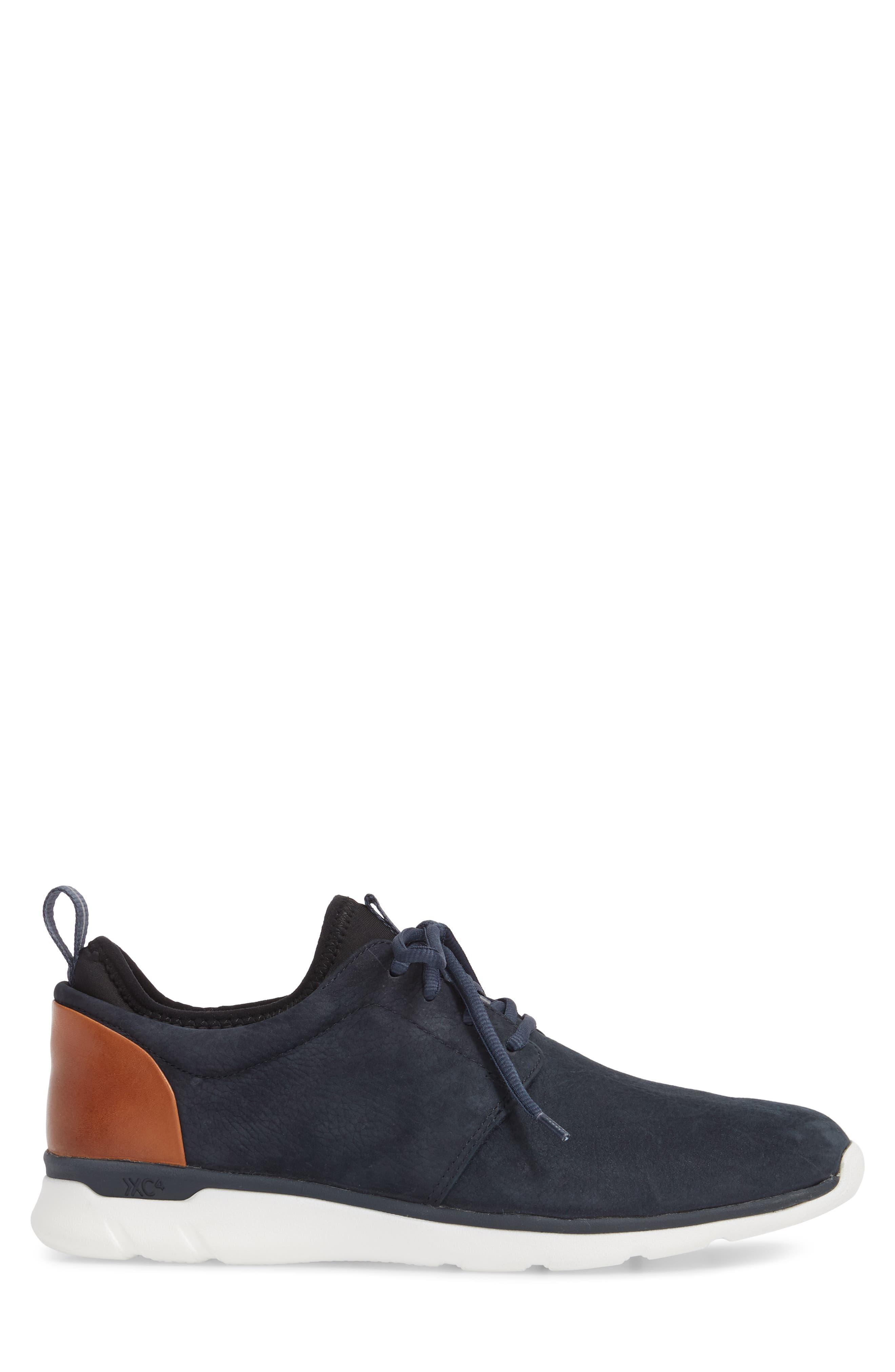 Prentiss XC4<sup>®</sup> Waterproof Low Top Sneaker,                             Alternate thumbnail 3, color,                             Navy Nubuck