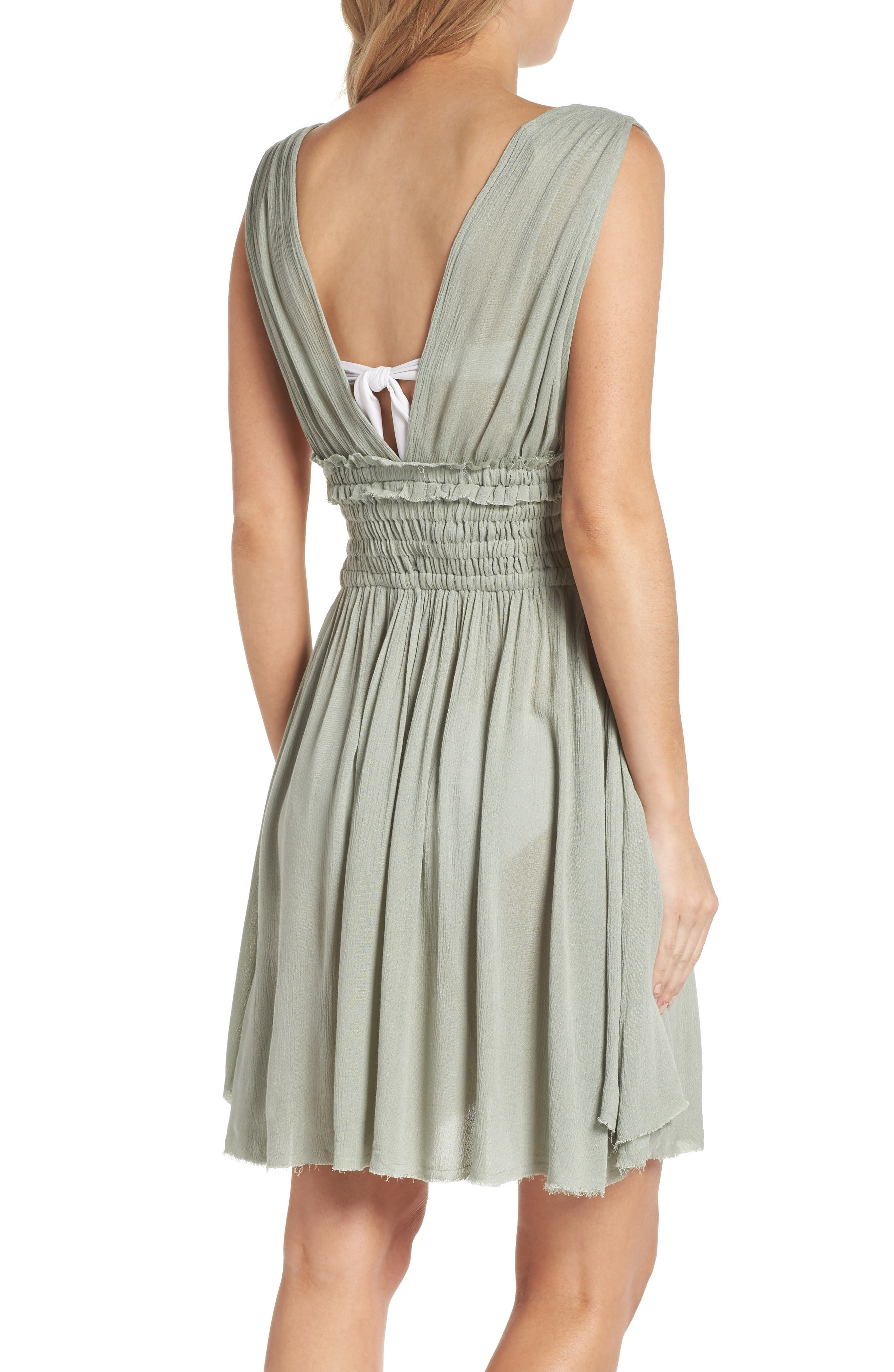 Goddess Cover-Up Dress,                             Alternate thumbnail 2, color,                             Seafoam