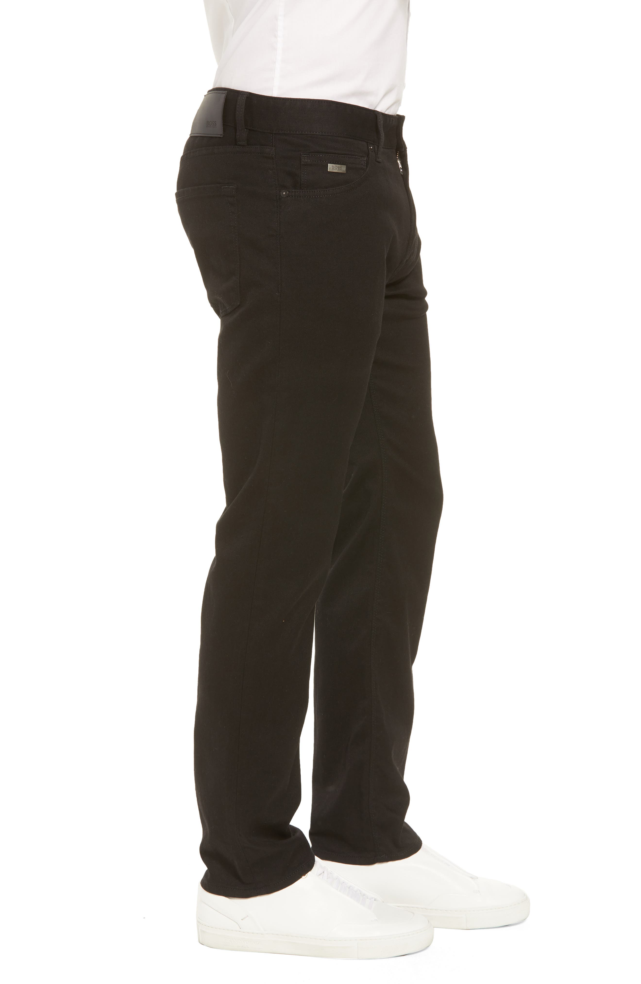 Maine Straight Leg Jeans,                             Alternate thumbnail 3, color,                             Black