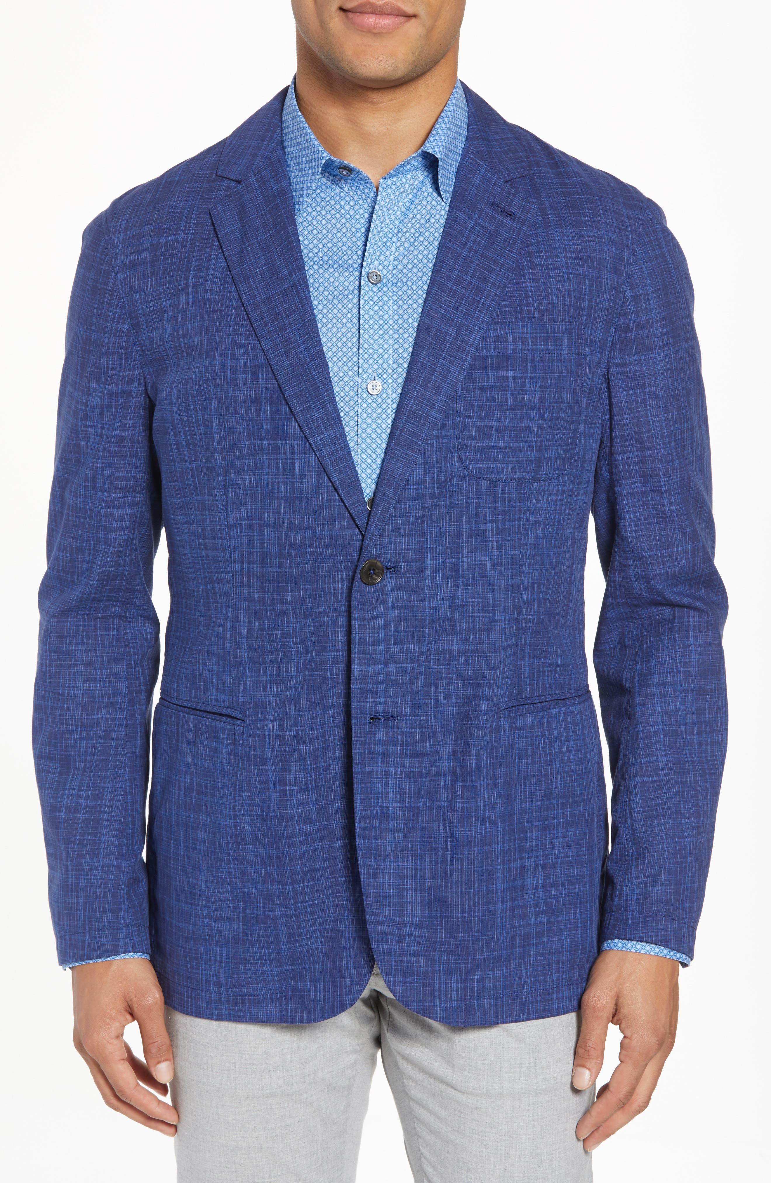 Belmont Regular Fit Sport Coat,                             Main thumbnail 1, color,                             Blue