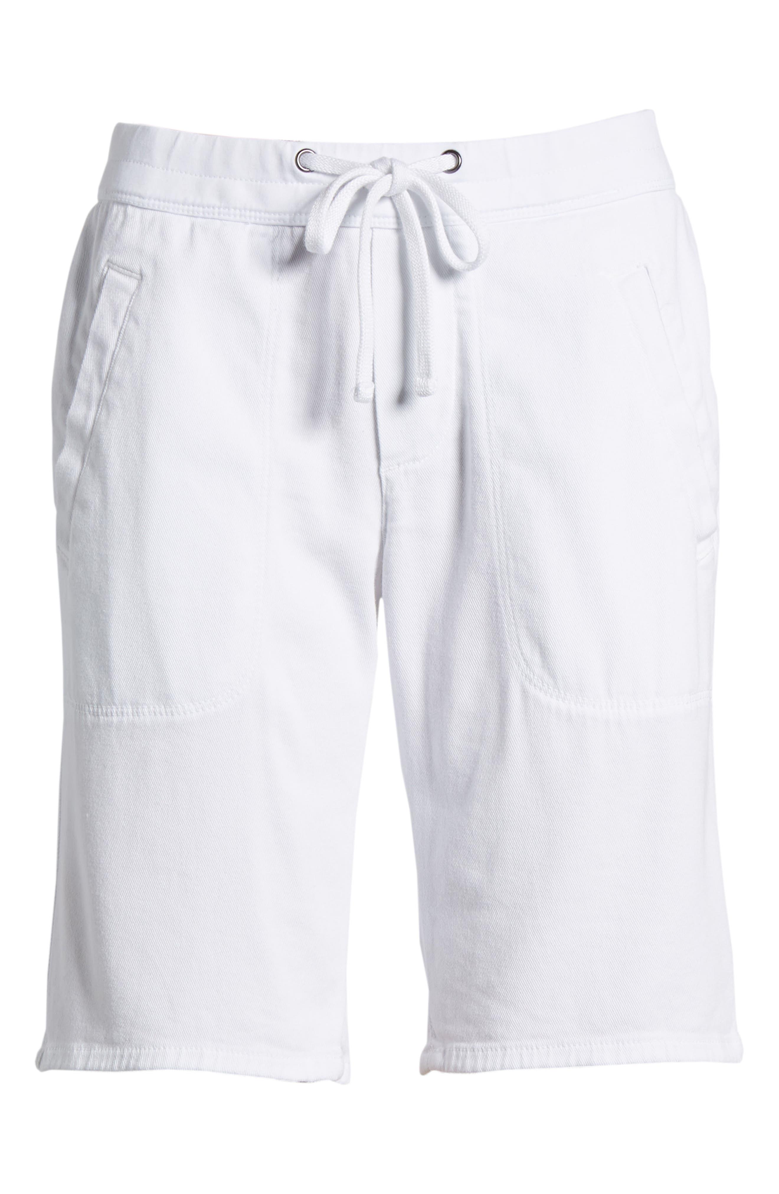 Soft Drape Utility Shorts,                             Main thumbnail 1, color,                             White