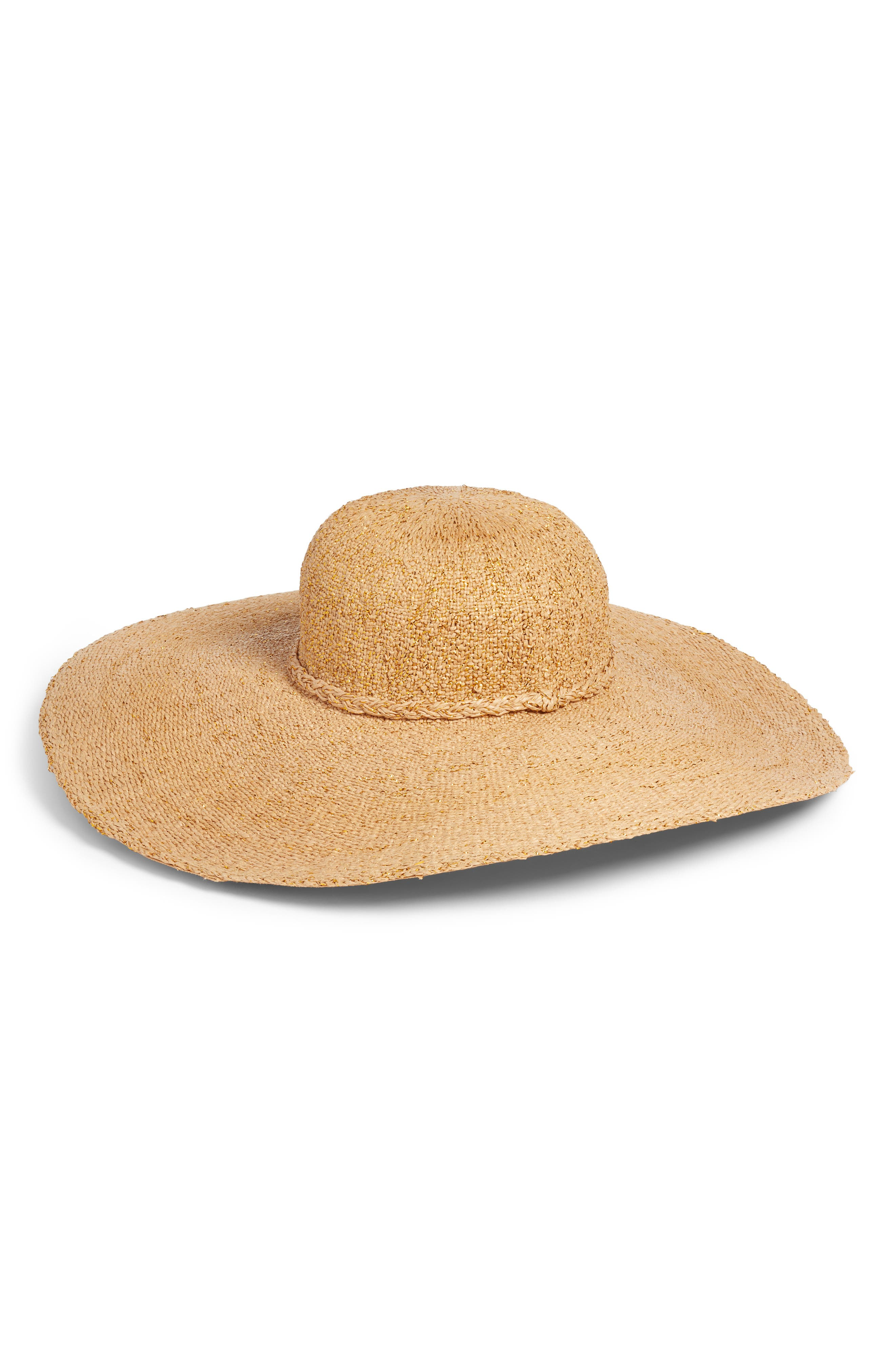 BP. Wide Brim Straw Hat