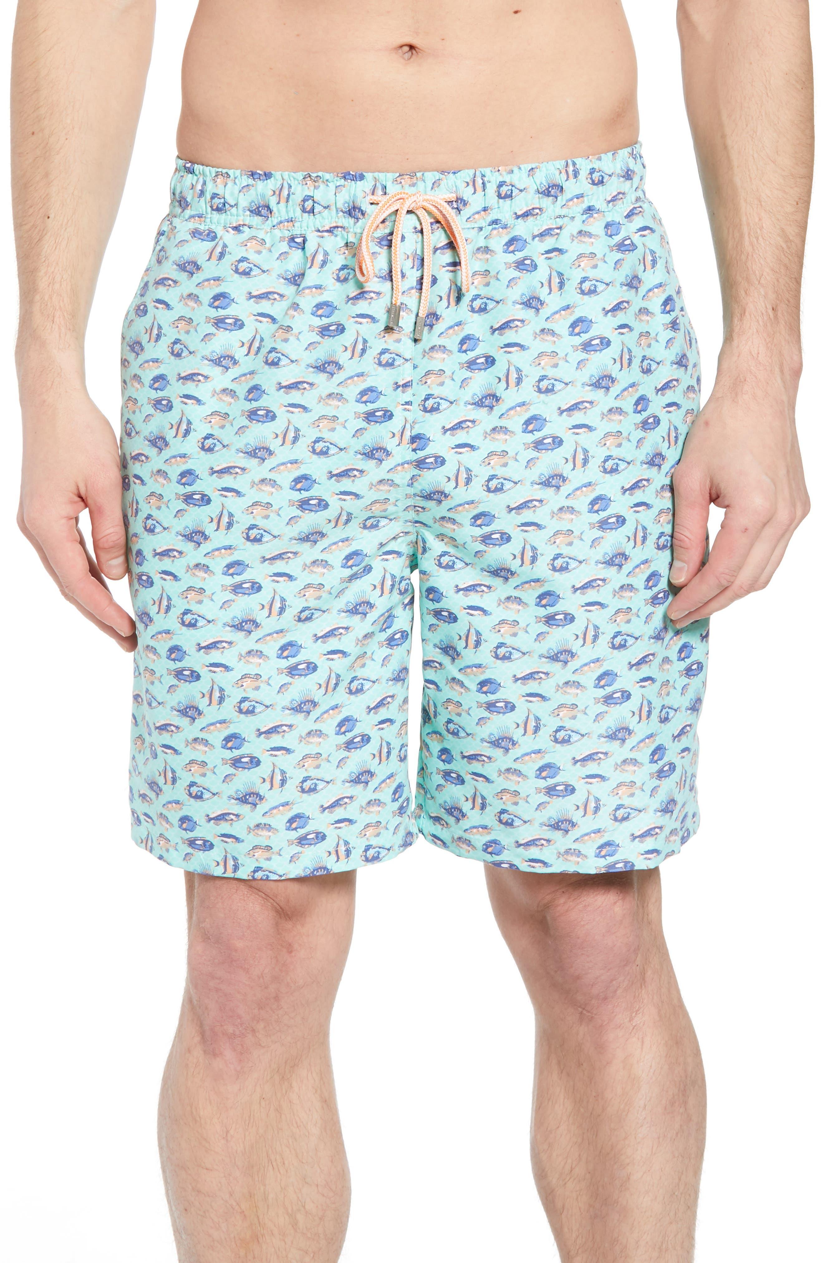 Tropical Catch Swim Trunks,                         Main,                         color, Watercress