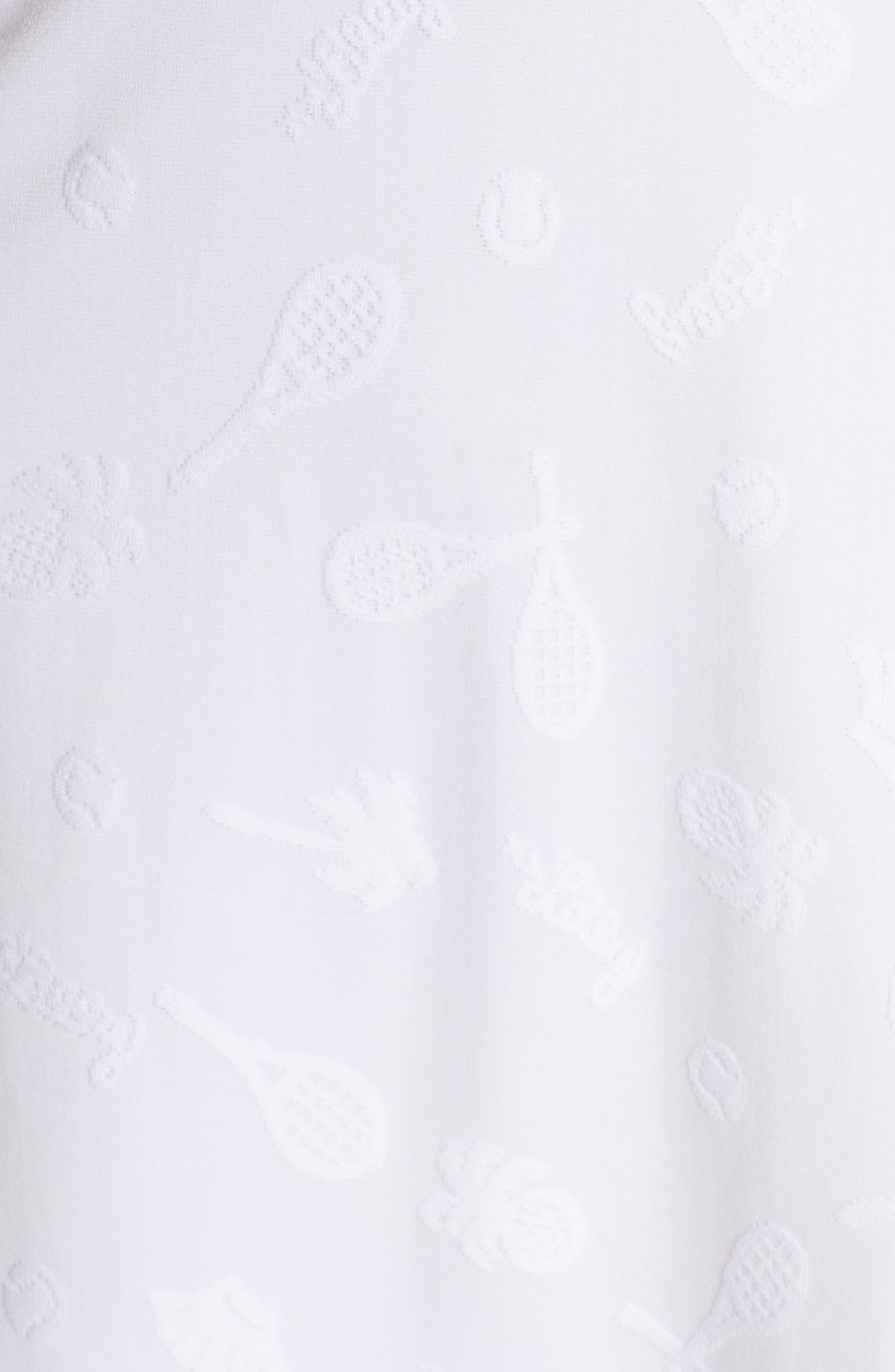 Delphina UPF 50+ Tennis Dress,                             Alternate thumbnail 6, color,                             Resort White Perfect Match Jaq