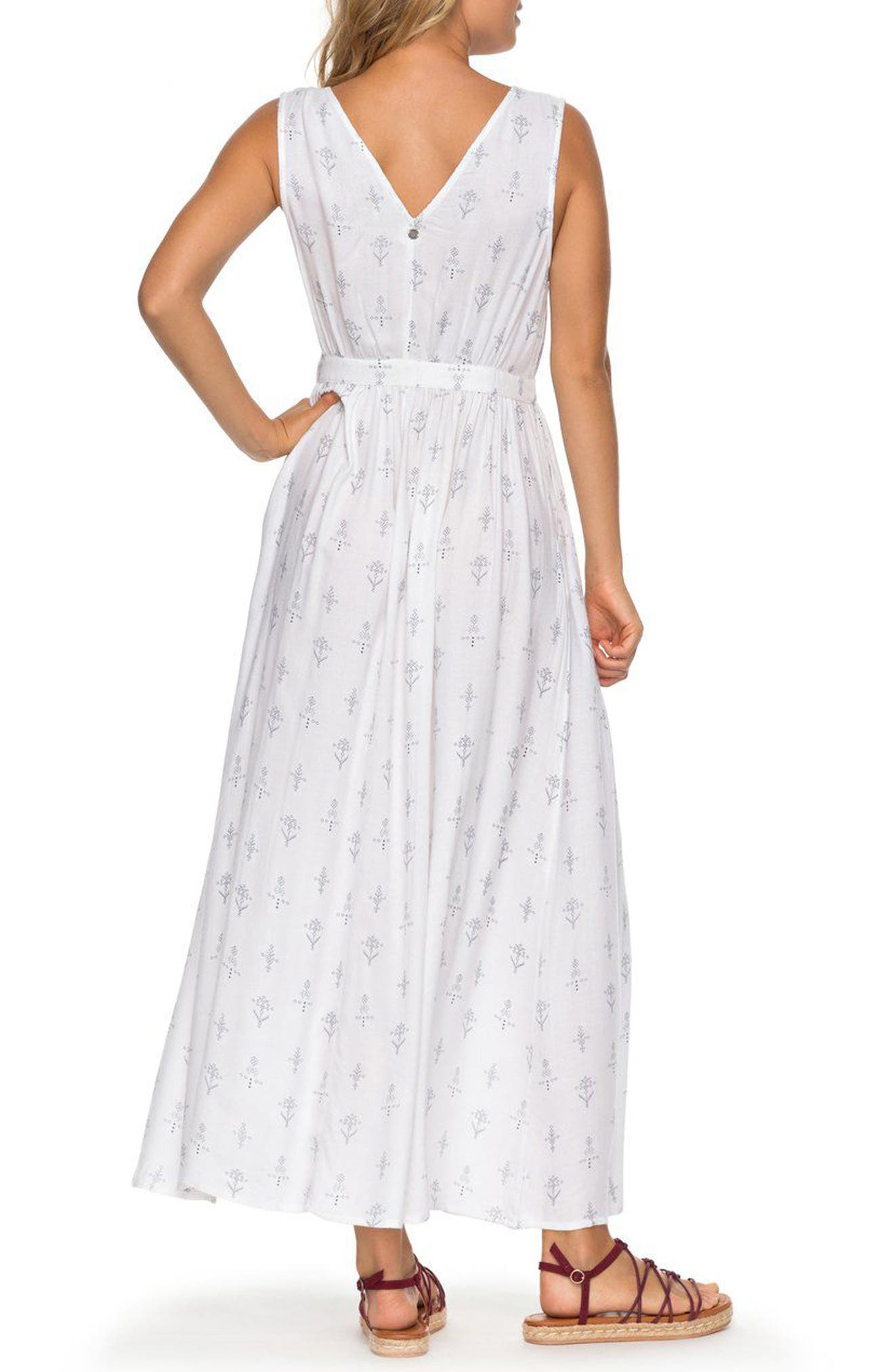 Apache Nature Print Maxi Dress,                             Alternate thumbnail 3, color,                             Marshmallow Simple Azaz
