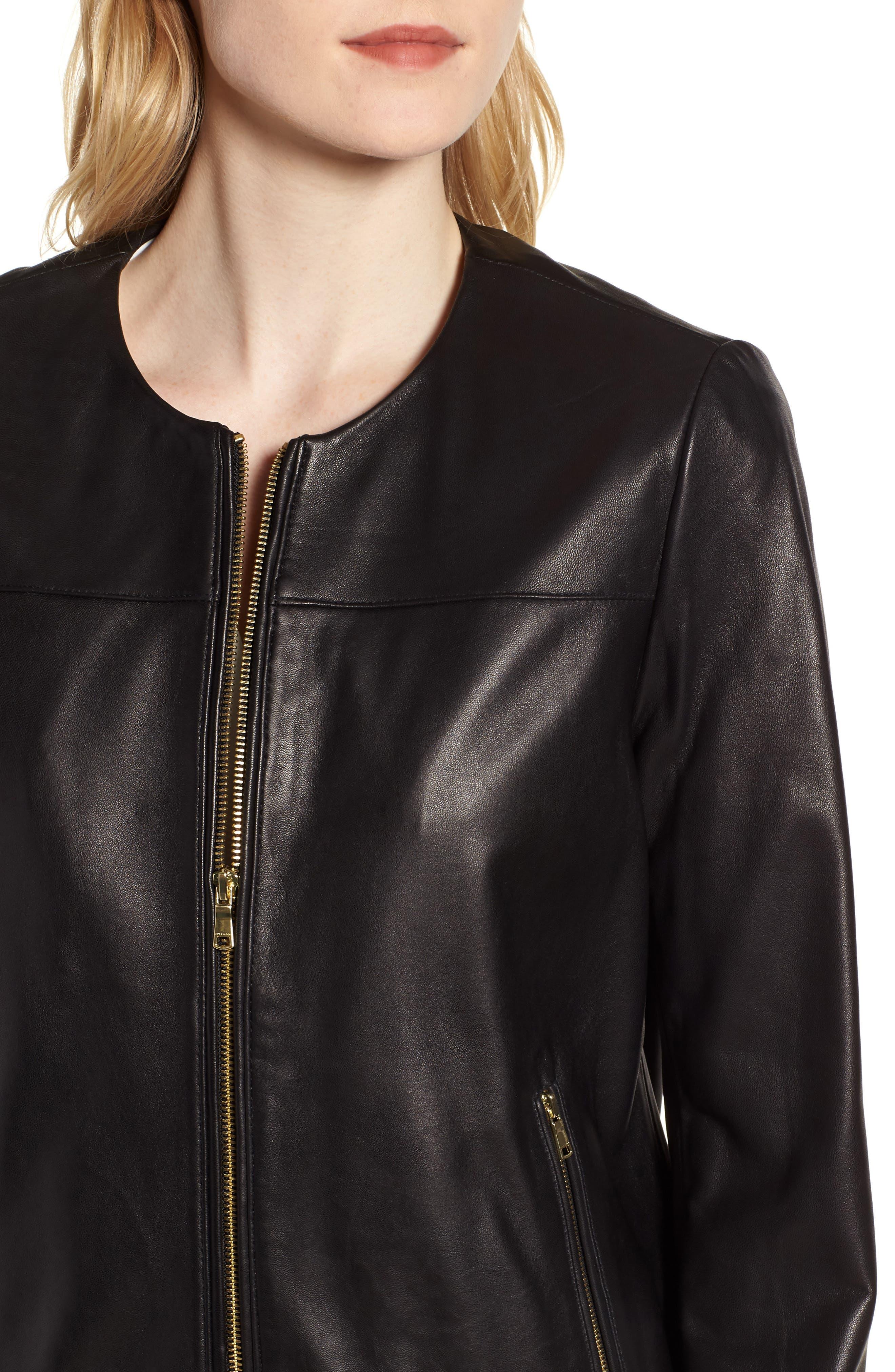 Alternate Image 4  - Cole Haan Lambskin Leather Jacket