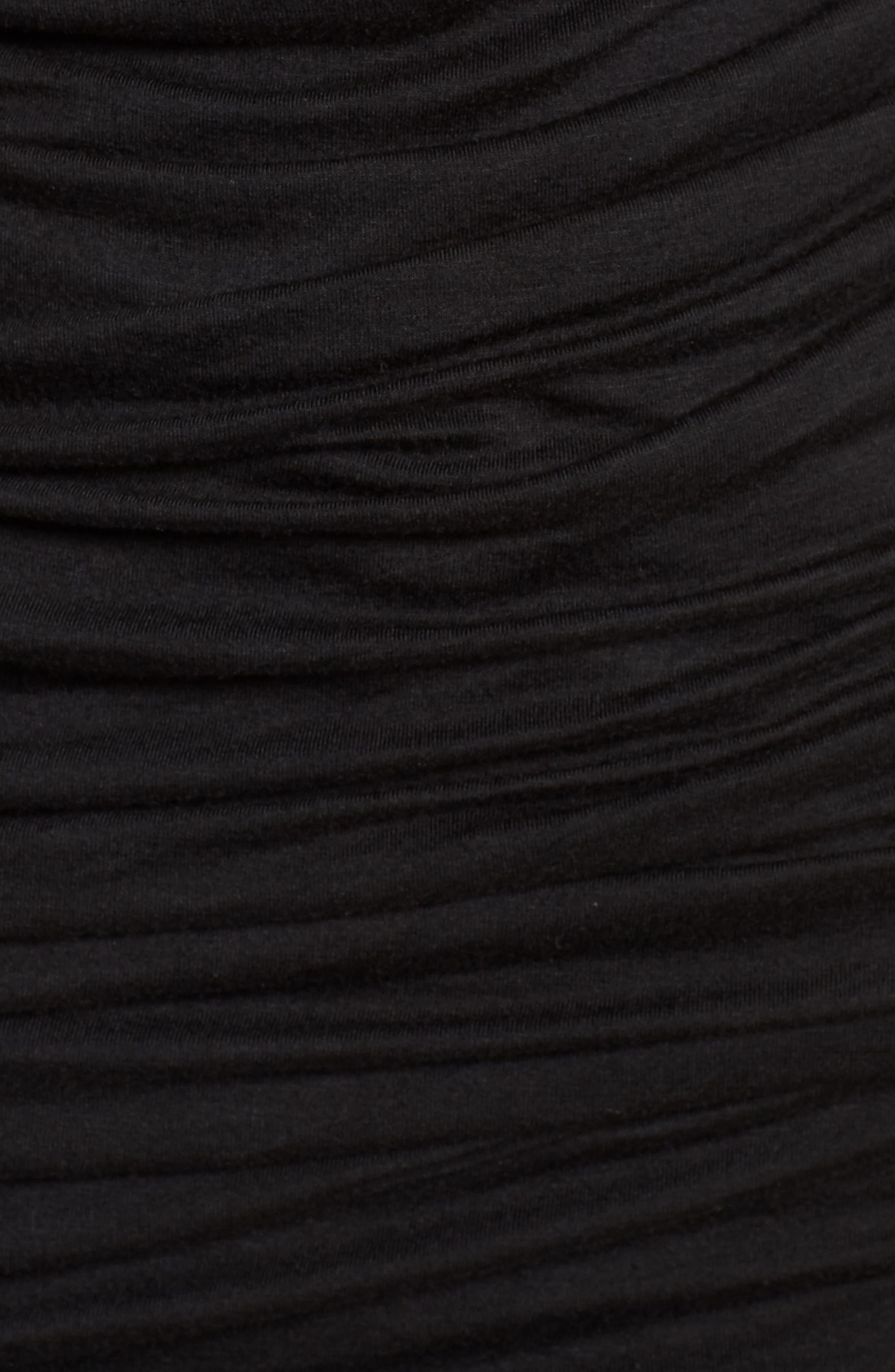 Ruched Sheath Dress,                             Alternate thumbnail 6, color,                             Black Multi