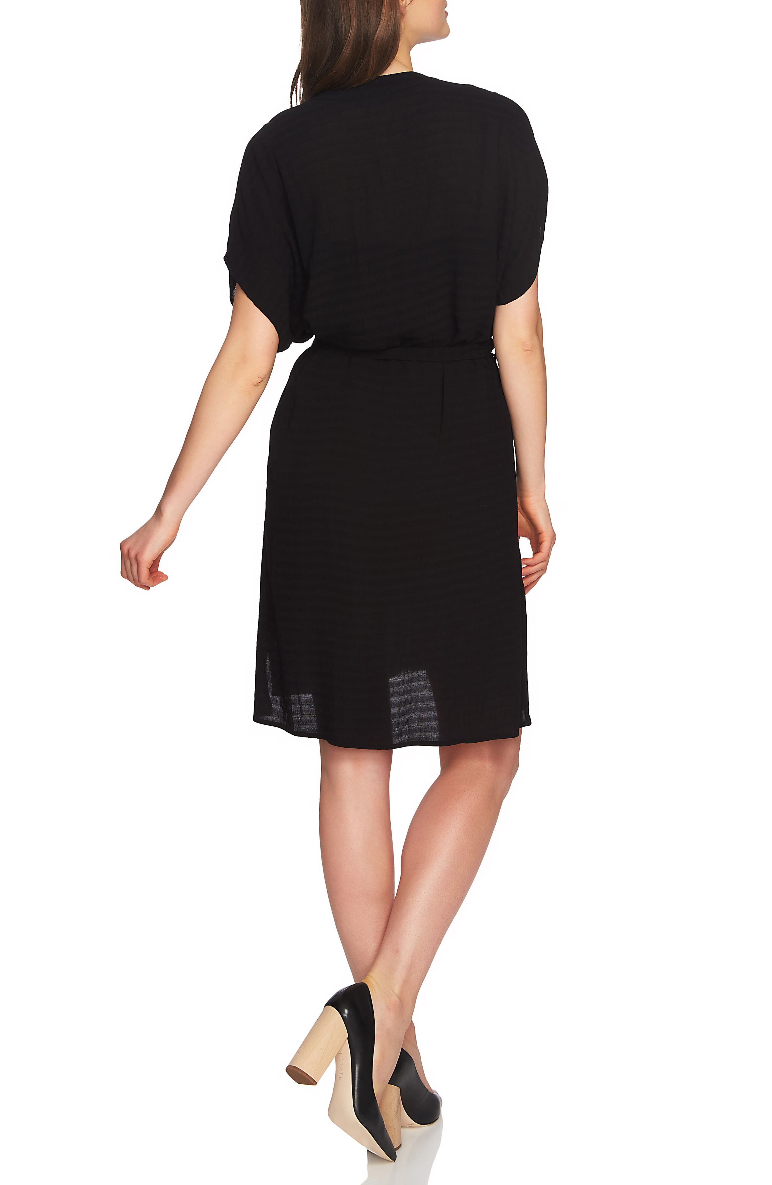 Belted Shirtdress,                             Alternate thumbnail 2, color,                             Rich Black