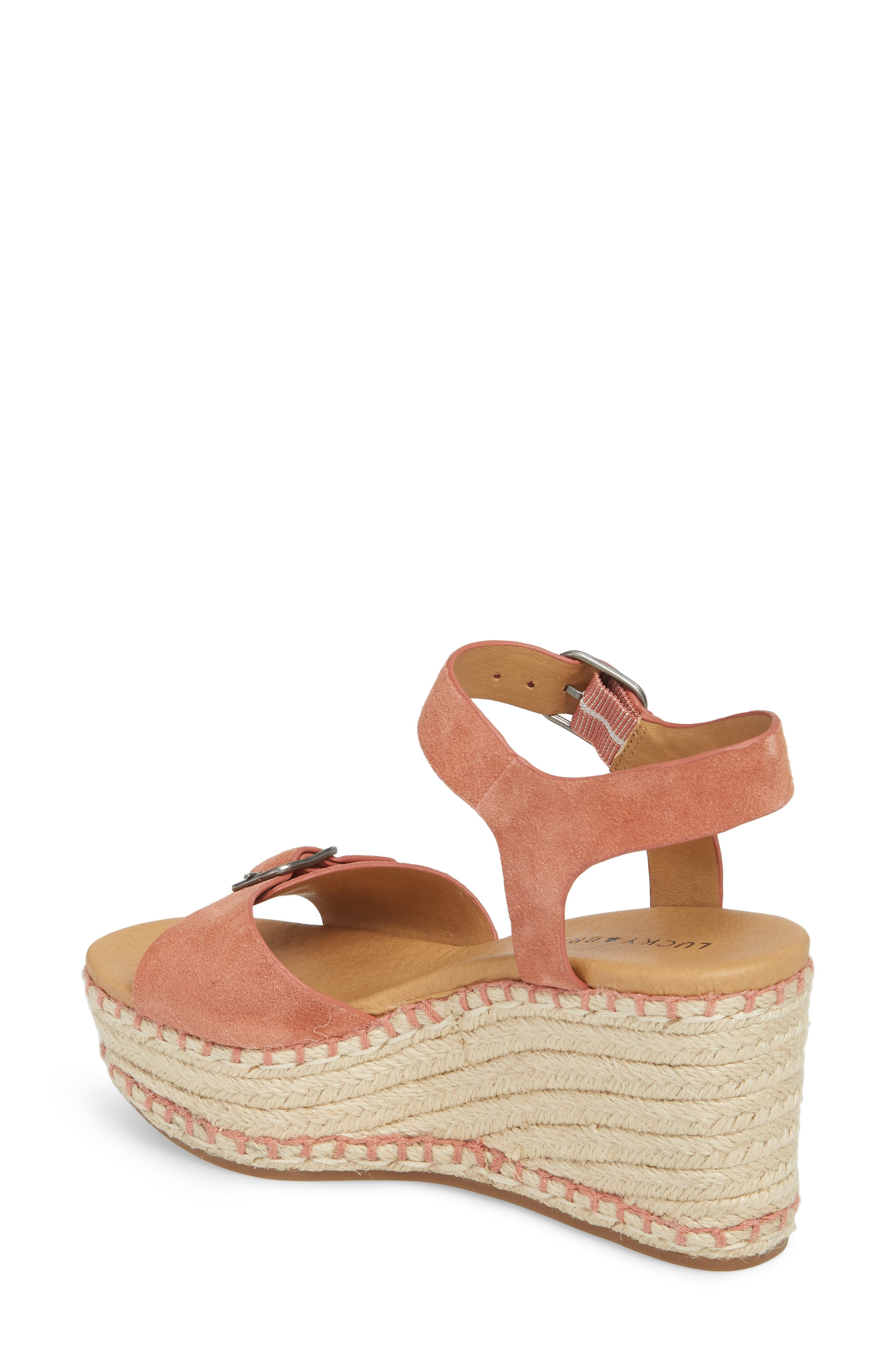 Naveah III Espadrille Wedge Sandal,                             Alternate thumbnail 2, color,                             Canyon Rose Suede