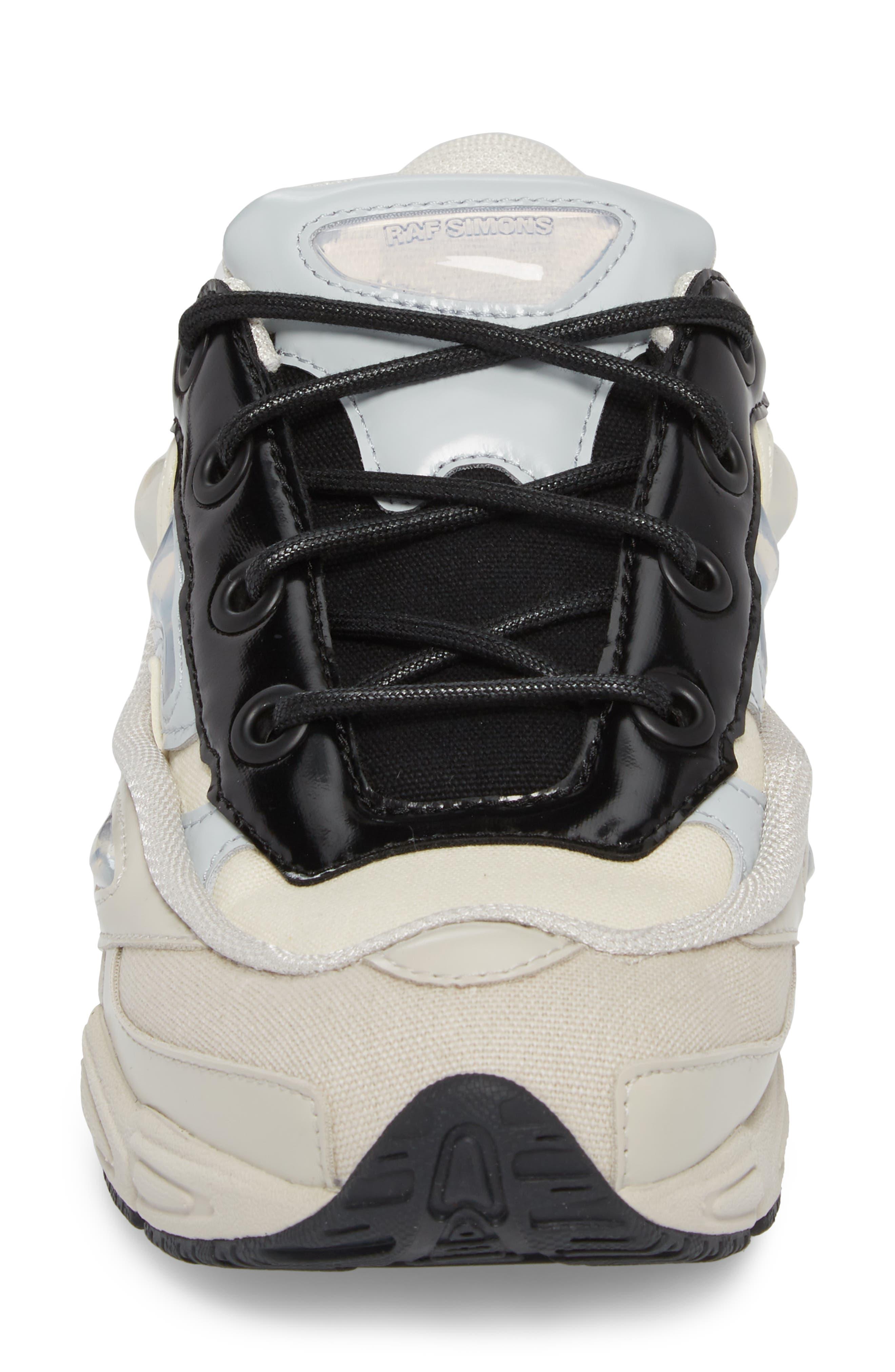 adidas by Raf Simons Ozweego III Sneaker,                             Alternate thumbnail 4, color,                             Cream White/ Mist Stone/ Black
