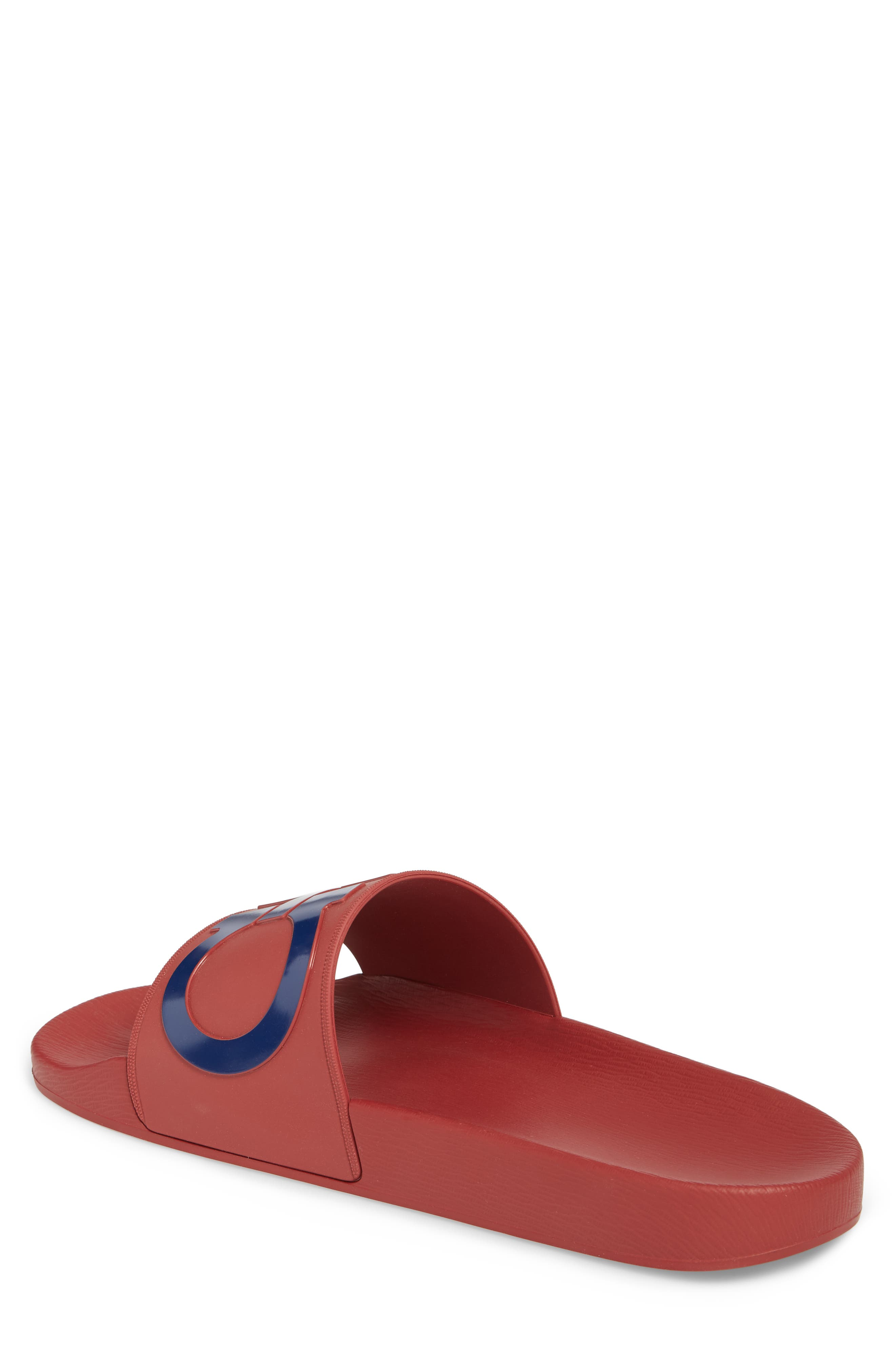 Groove Slide Sandal,                             Alternate thumbnail 2, color,                             Rouge