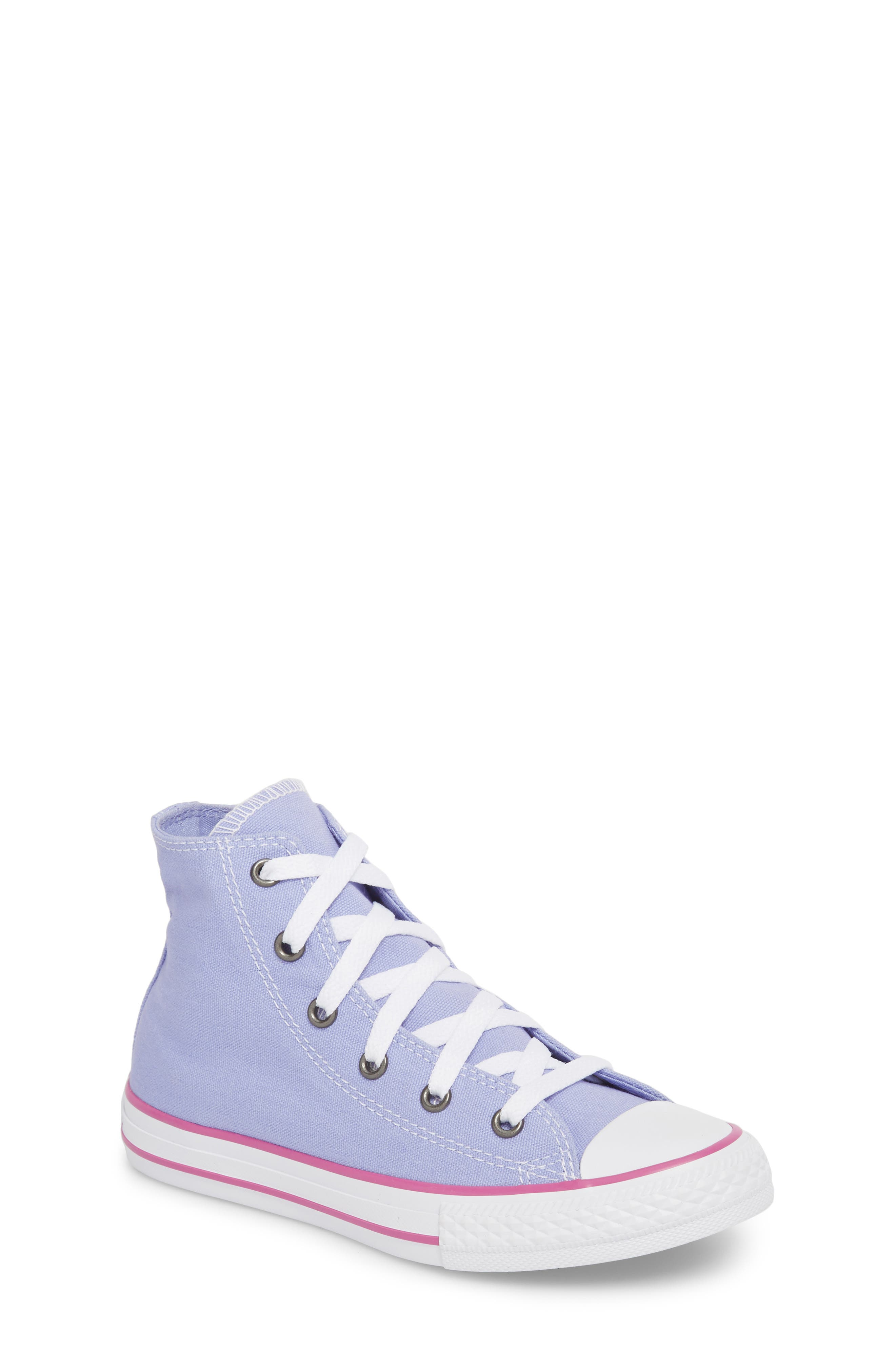 Chuck Taylor<sup>®</sup> All Star<sup>®</sup> High Top Sneaker,                             Main thumbnail 1, color,                             Twilight Purple