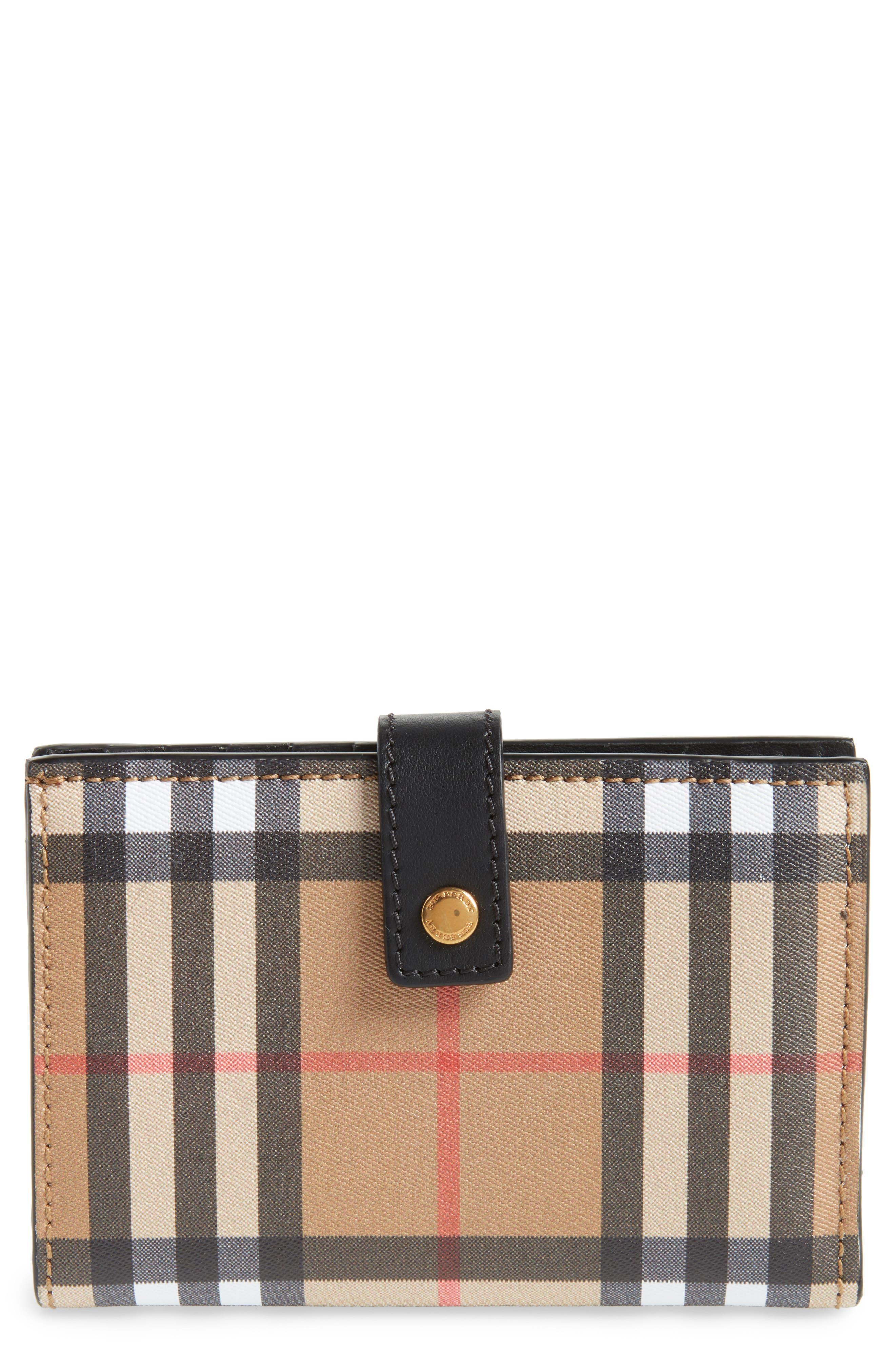 Marylebone Check Wallet,                         Main,                         color, Black