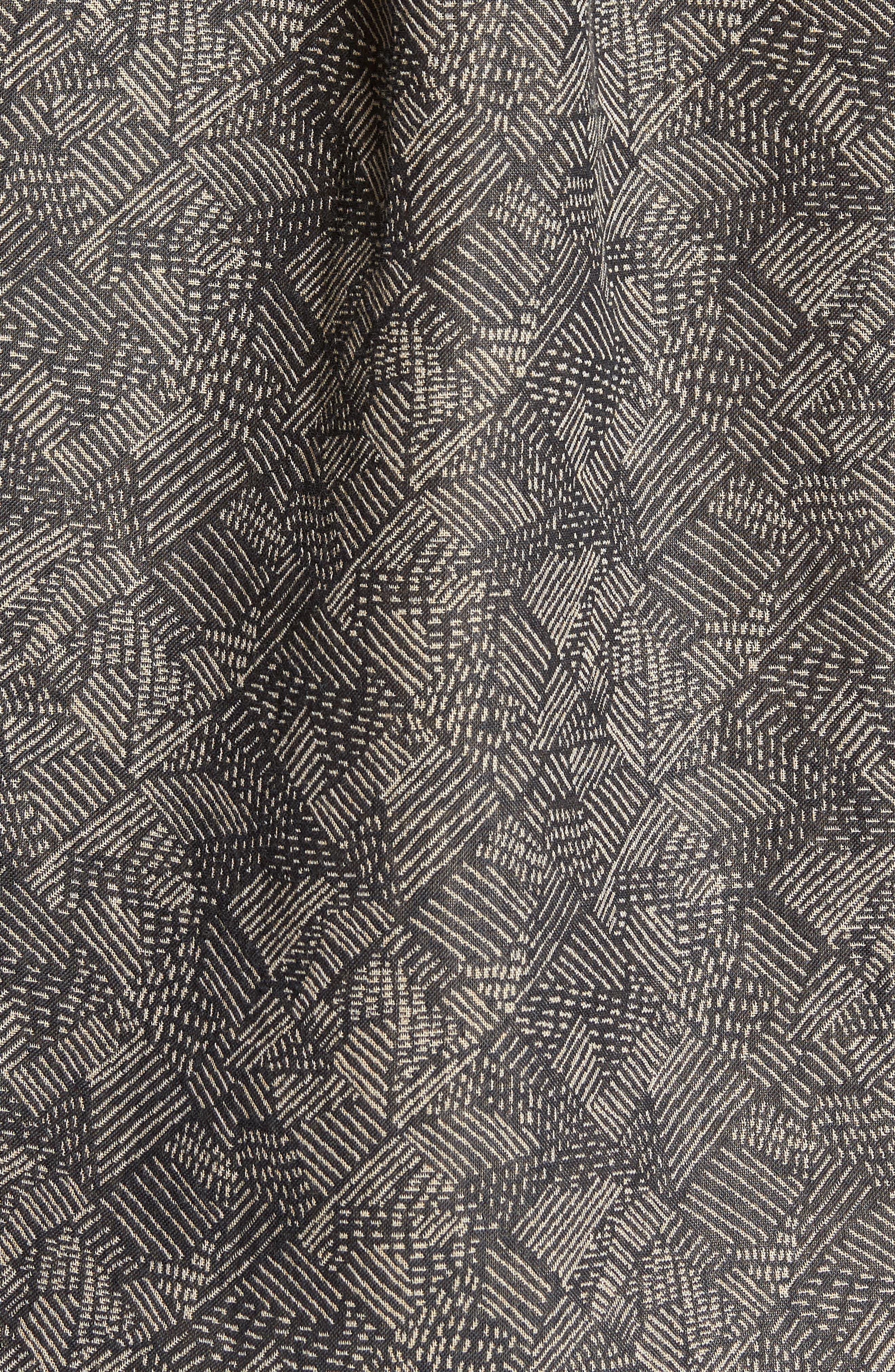 Leo Standard Fit Short Sleeve Sport Shirt,                             Alternate thumbnail 5, color,                             Slate Field Line