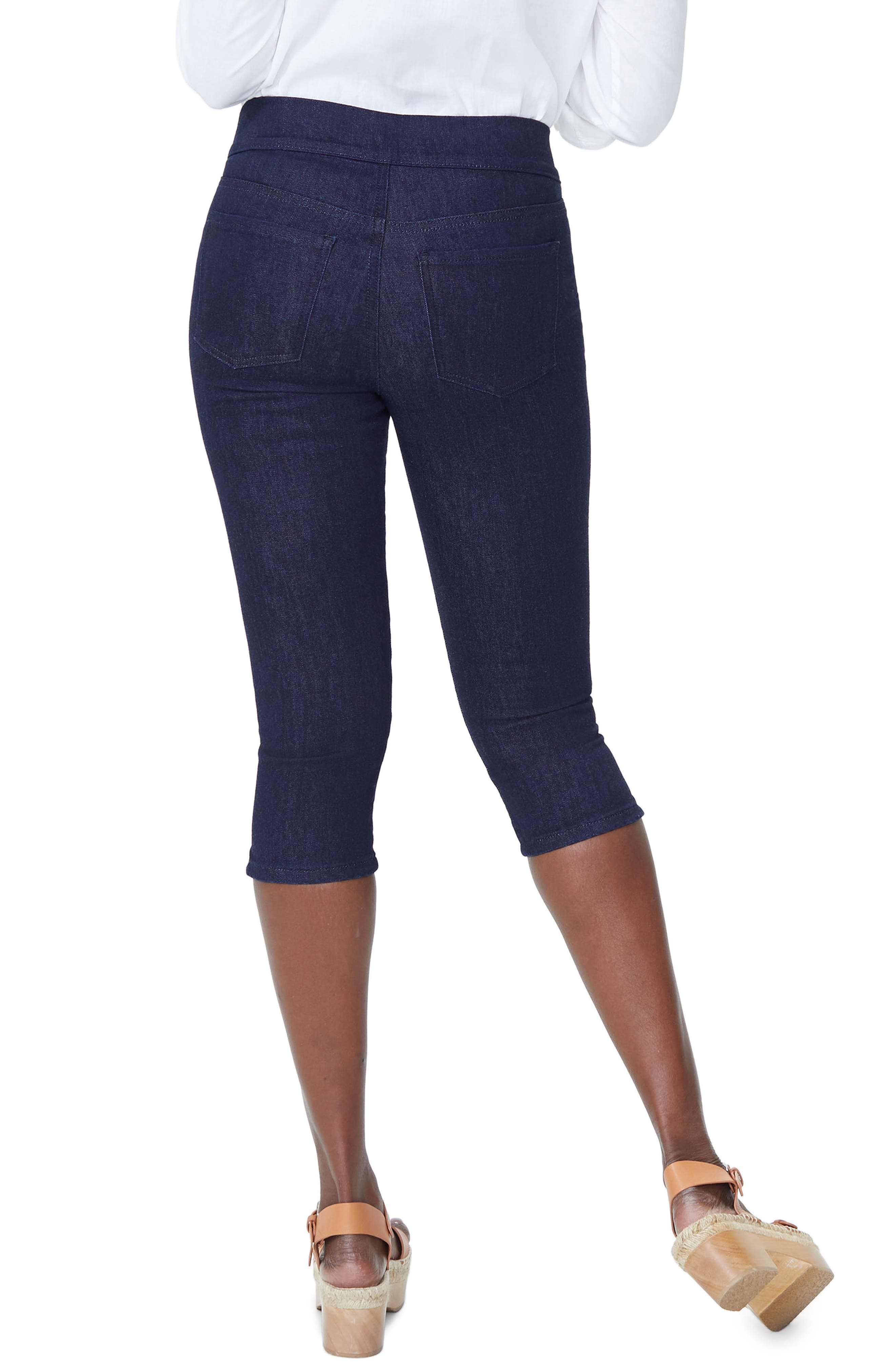 Pull-On Stretch Skinny Capri Jeans,                             Alternate thumbnail 2, color,                             Rinse