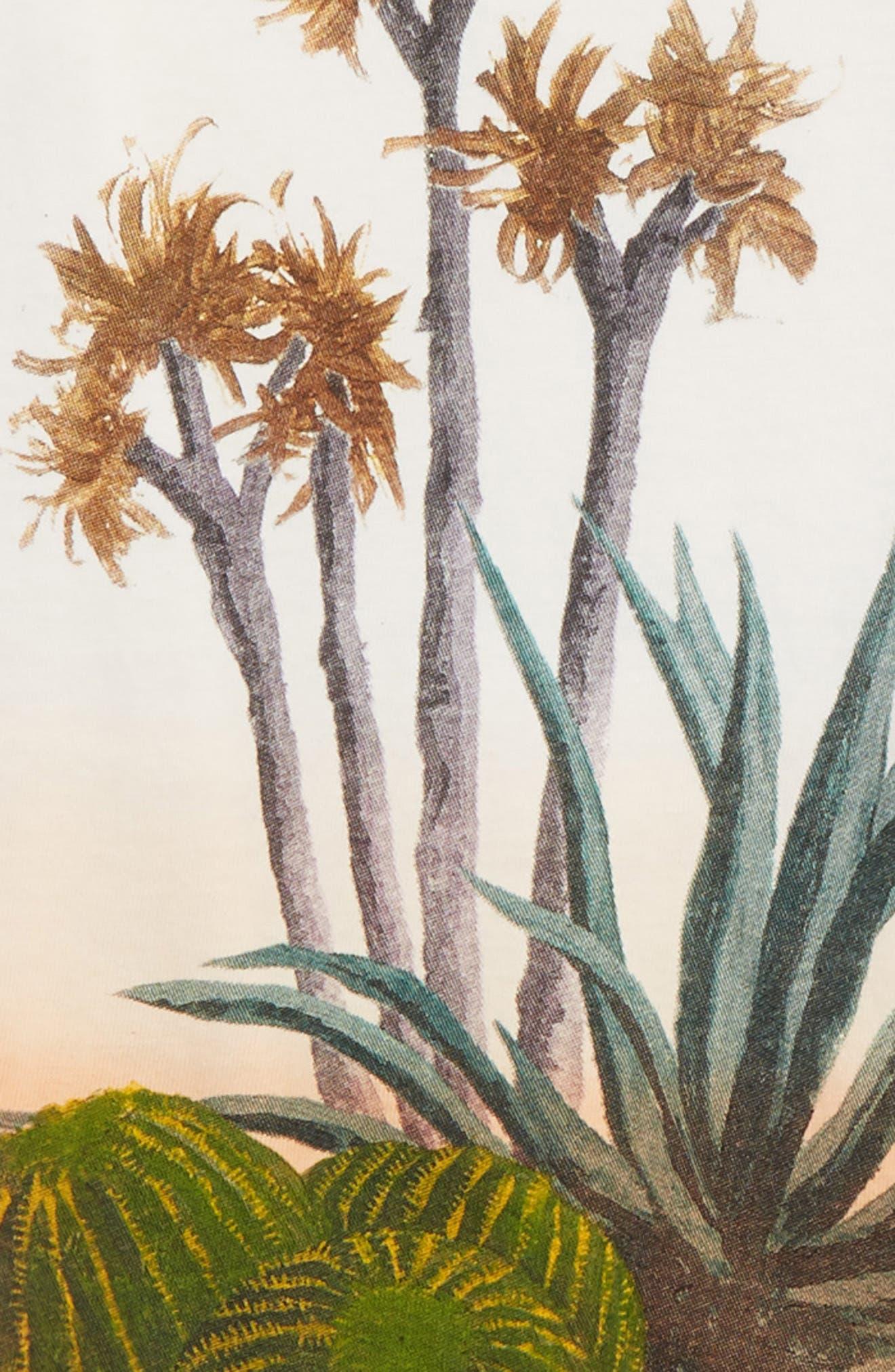 Cacti Screenprint T-Shirt,                             Alternate thumbnail 3, color,                             White