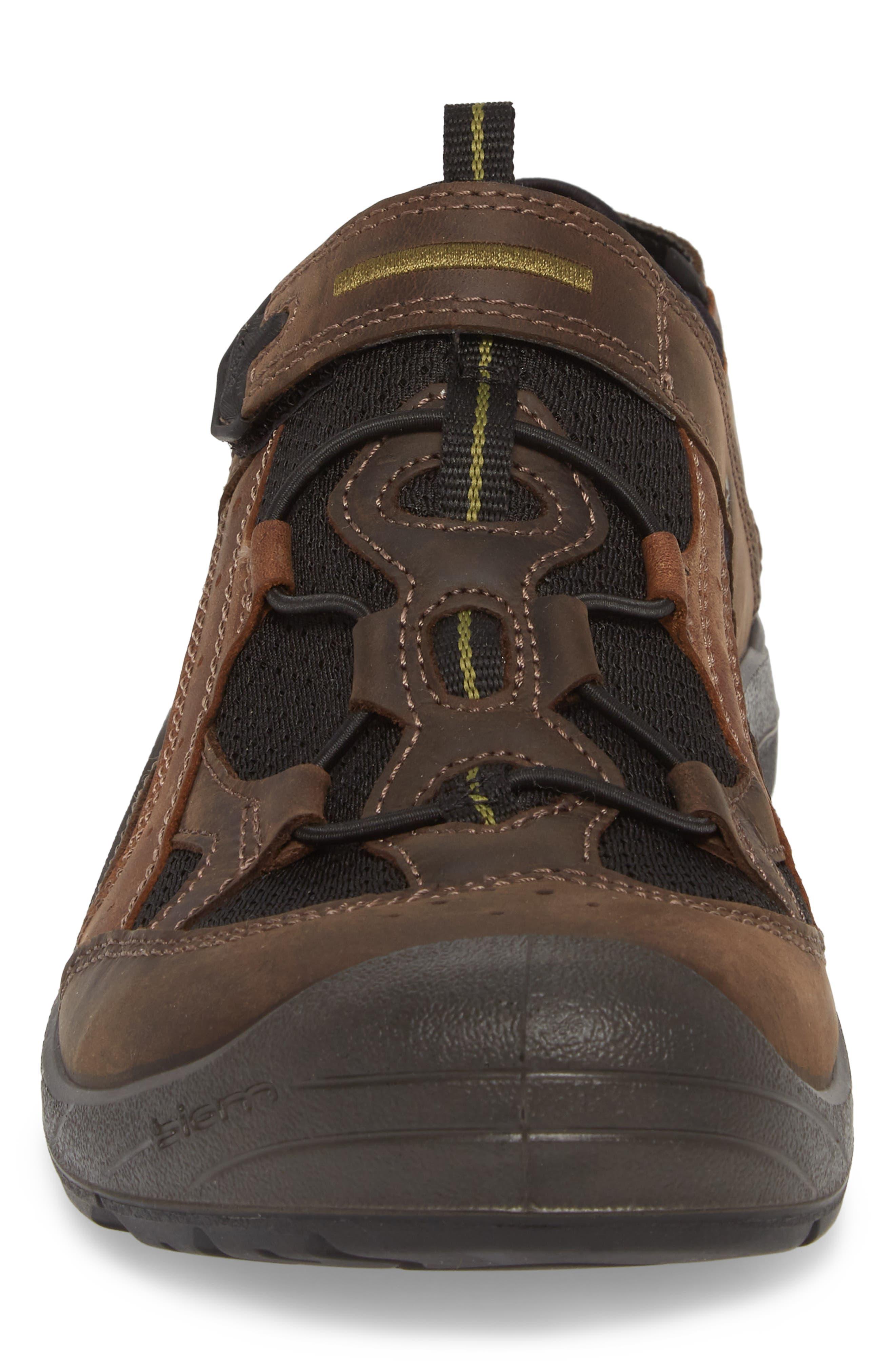 BIOM Delta Fisherman Sandal,                             Alternate thumbnail 4, color,                             Coffee Leather