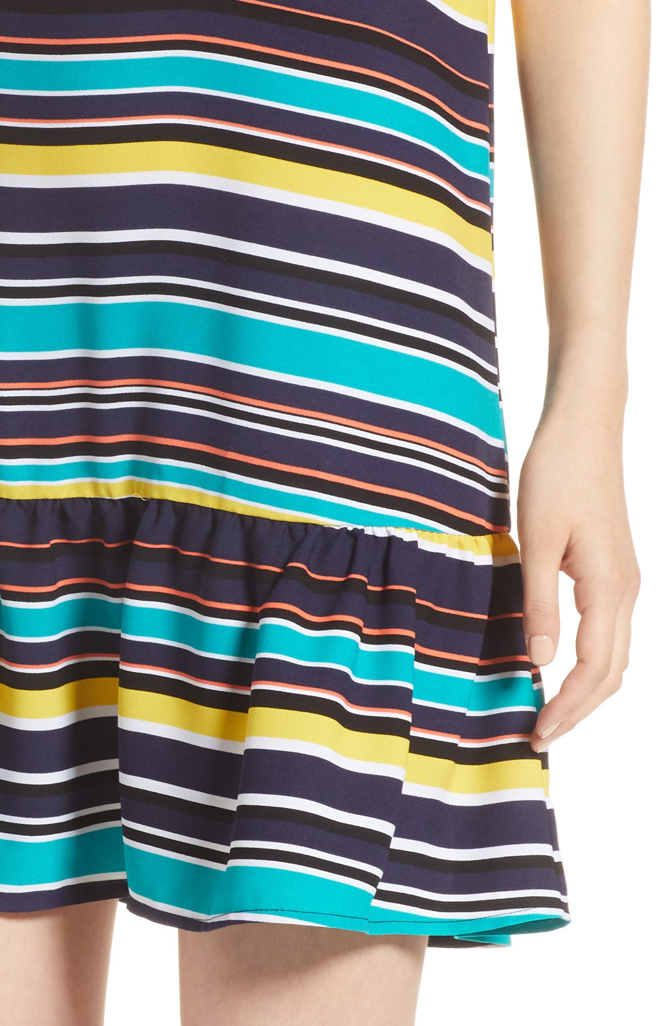 Alternate Image 4  - Halogen® Ruffle Hem Shift Dress (Regular & Petite)