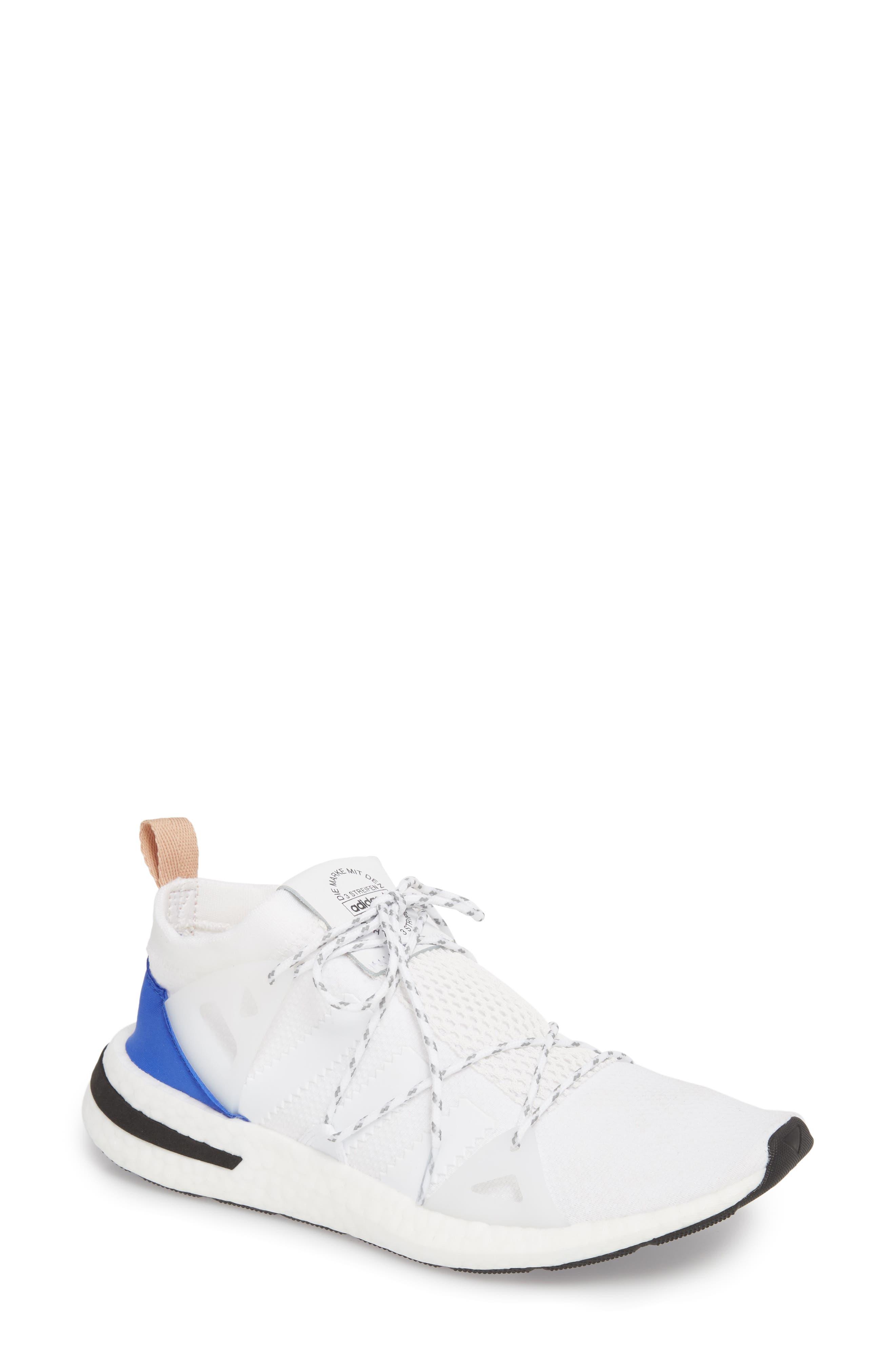 Arkyn Sneaker,                         Main,                         color, White/ White/ Ash Pearl