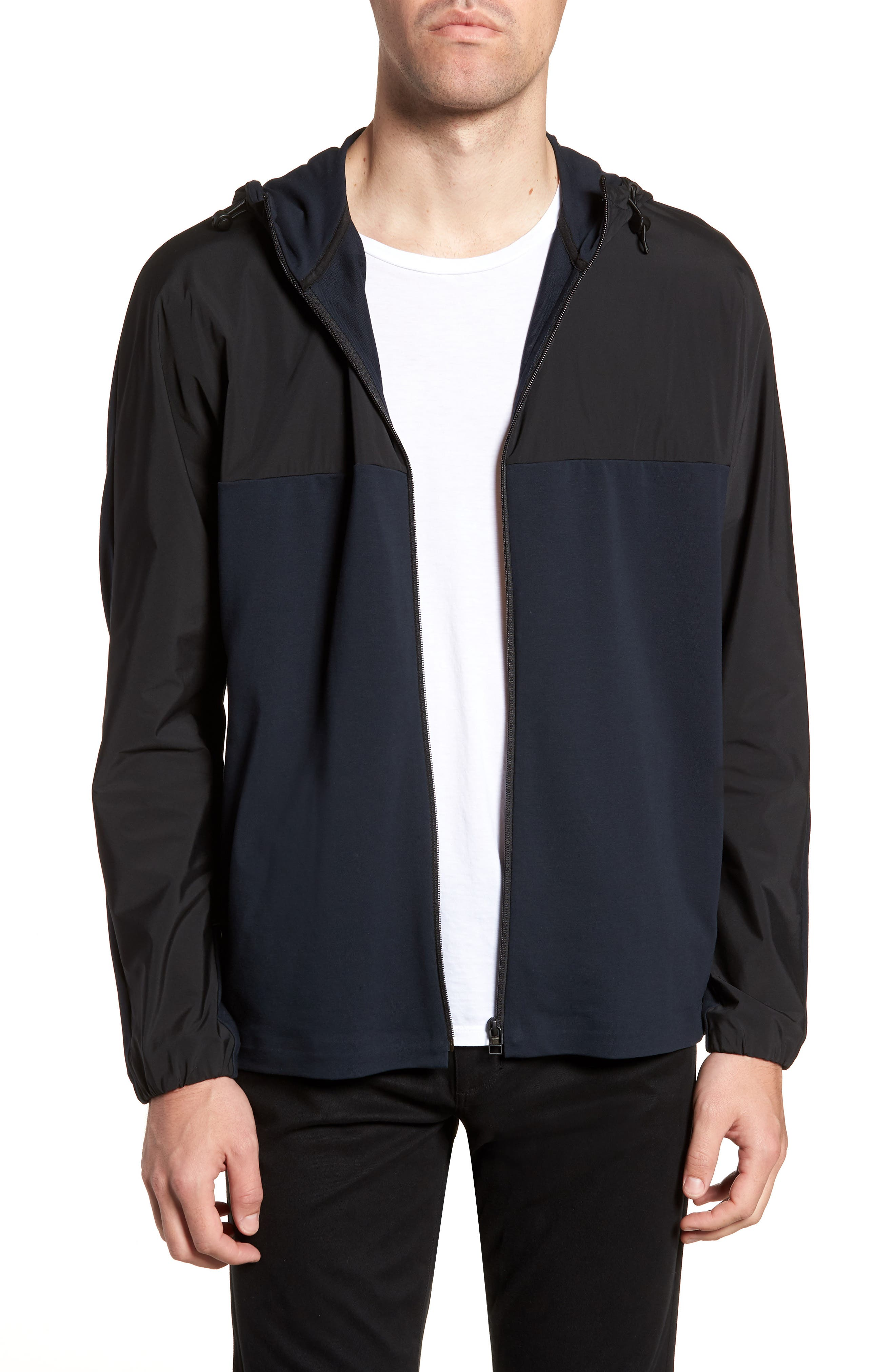 Combo Tech Regular Fit Full Zip Hoodie,                         Main,                         color, Eclipse