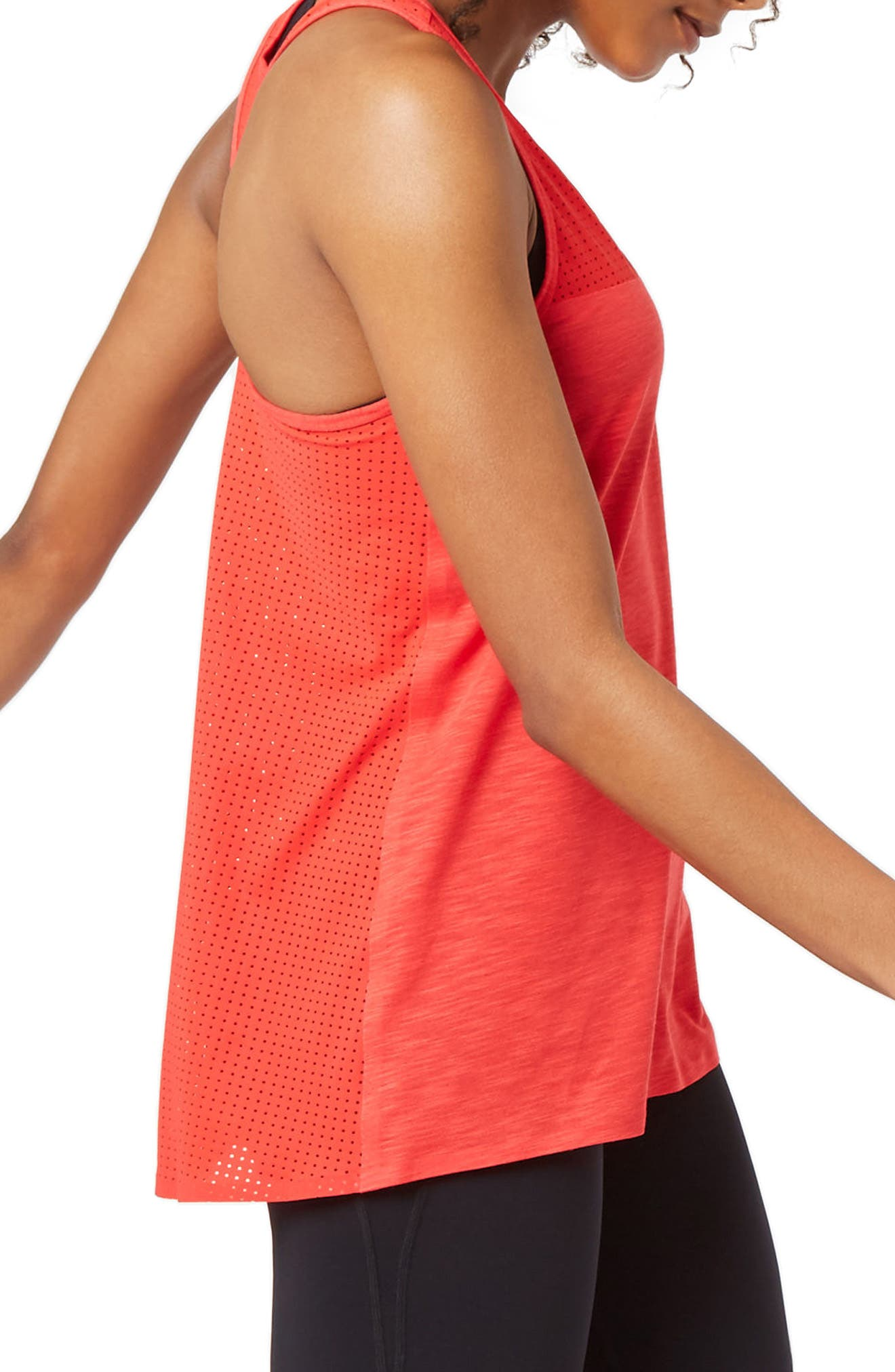 Breeze Running Tank,                             Alternate thumbnail 3, color,                             Scarlet Red