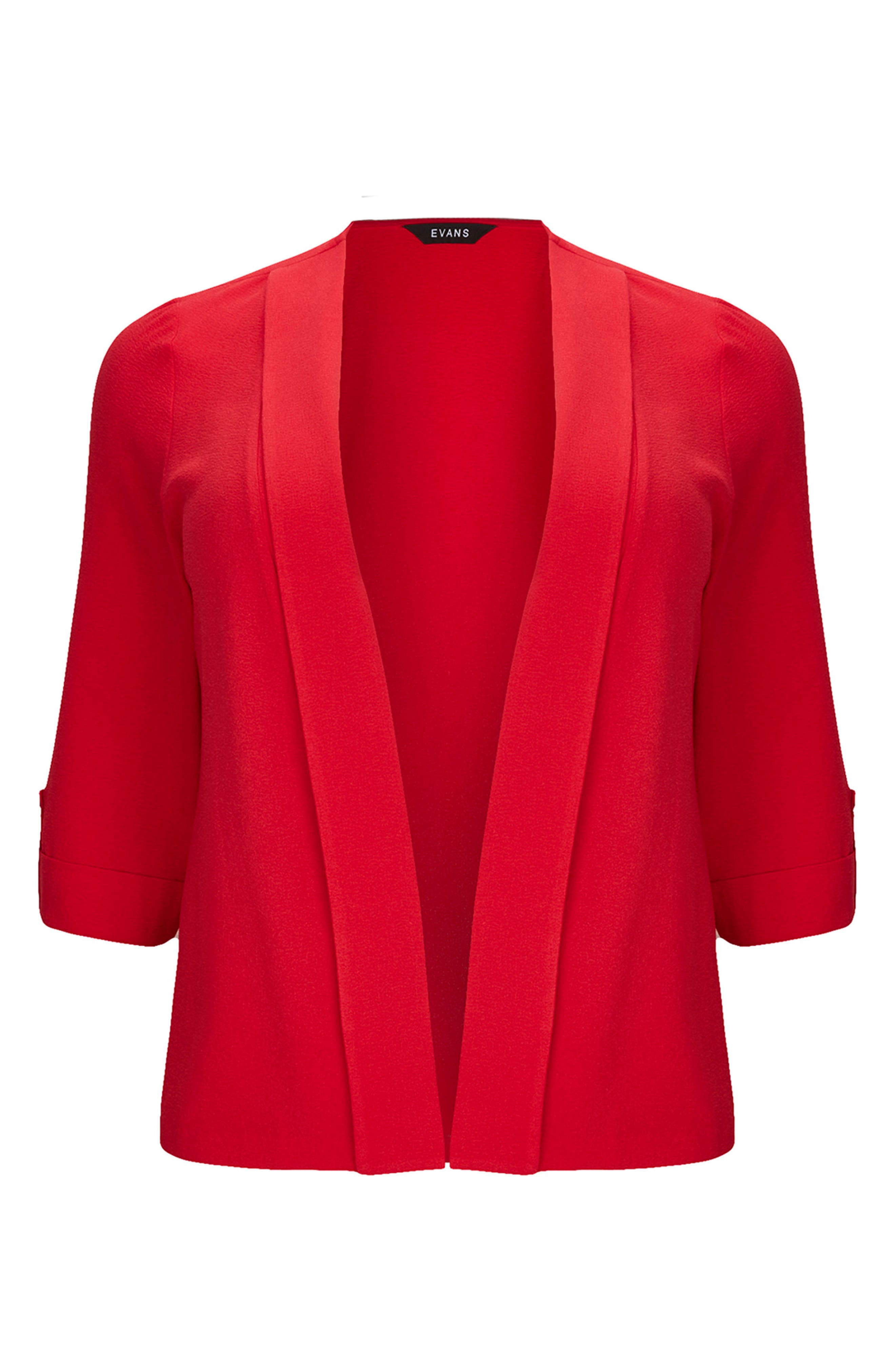 Panel Jacket,                         Main,                         color, Red