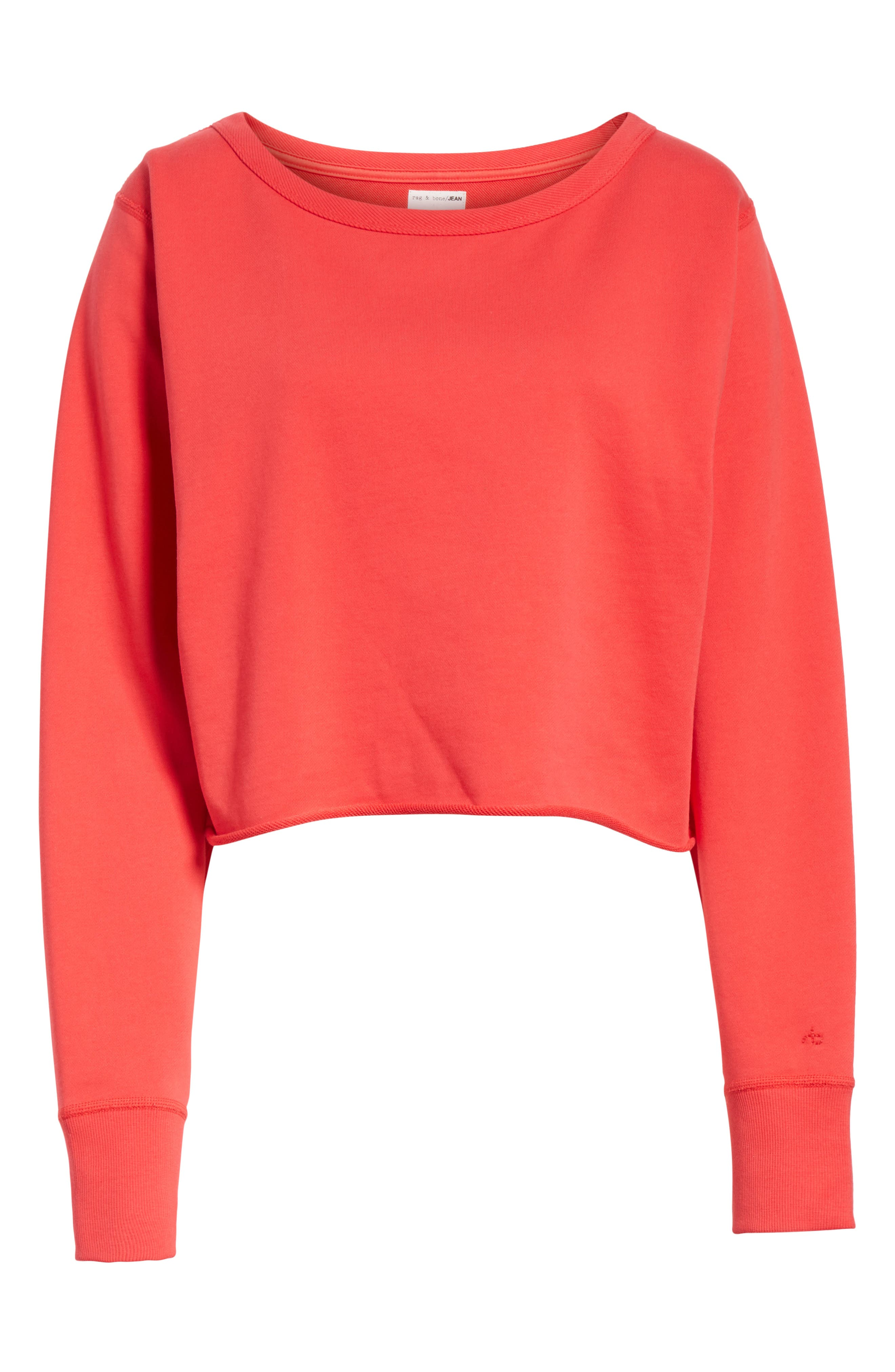 Crop Pullover,                             Alternate thumbnail 6, color,                             True Red